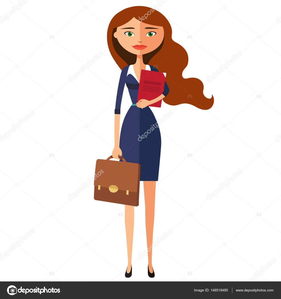 Business lady . Office worker is ready to work.Woman secretary ...