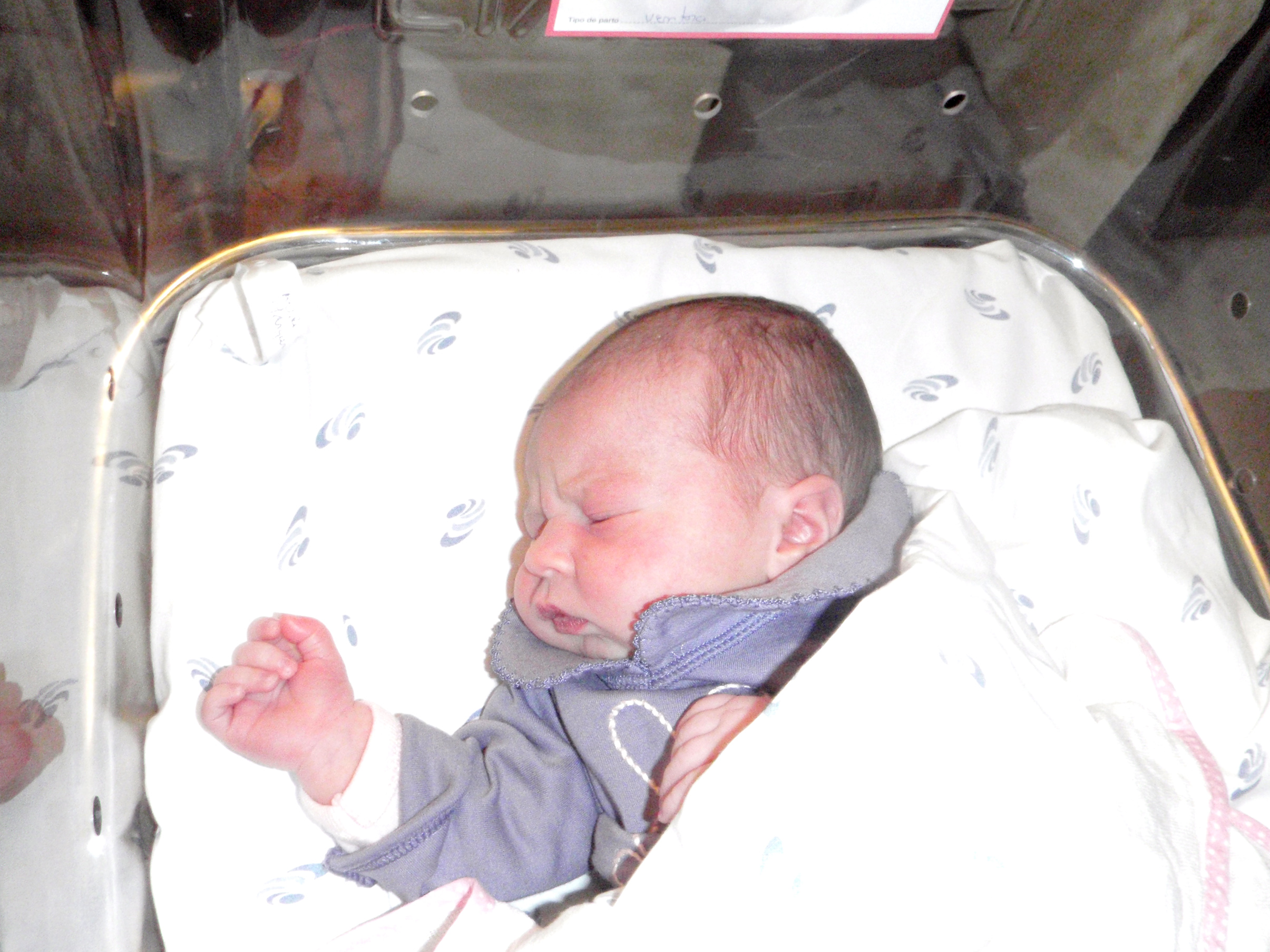 Recently newborn infant asleep photo