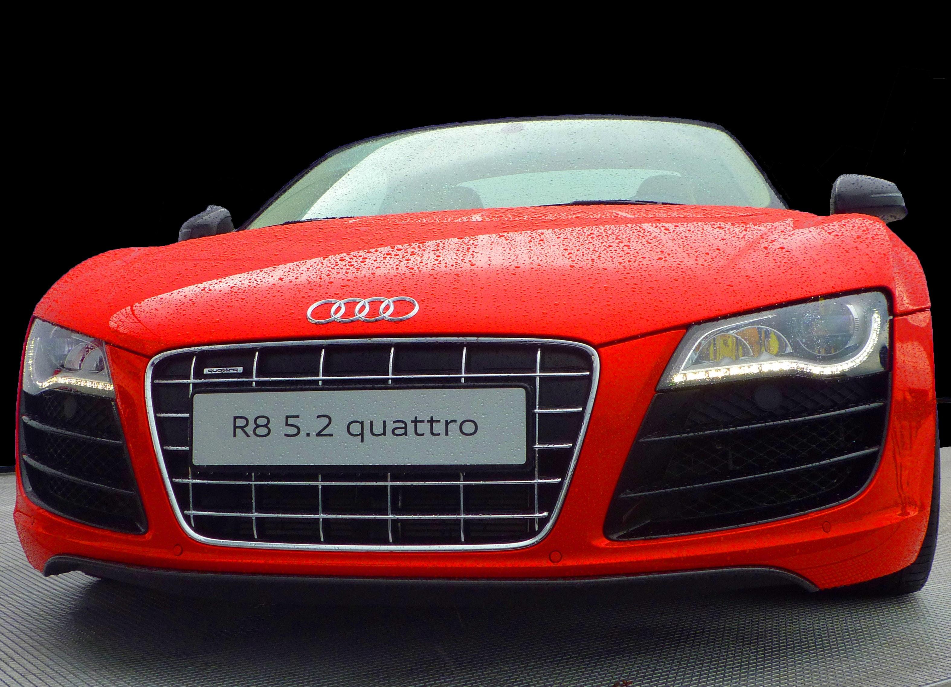 Red Audi R8 Quattro, Audi, Automobile, Bumper, Car, HQ Photo