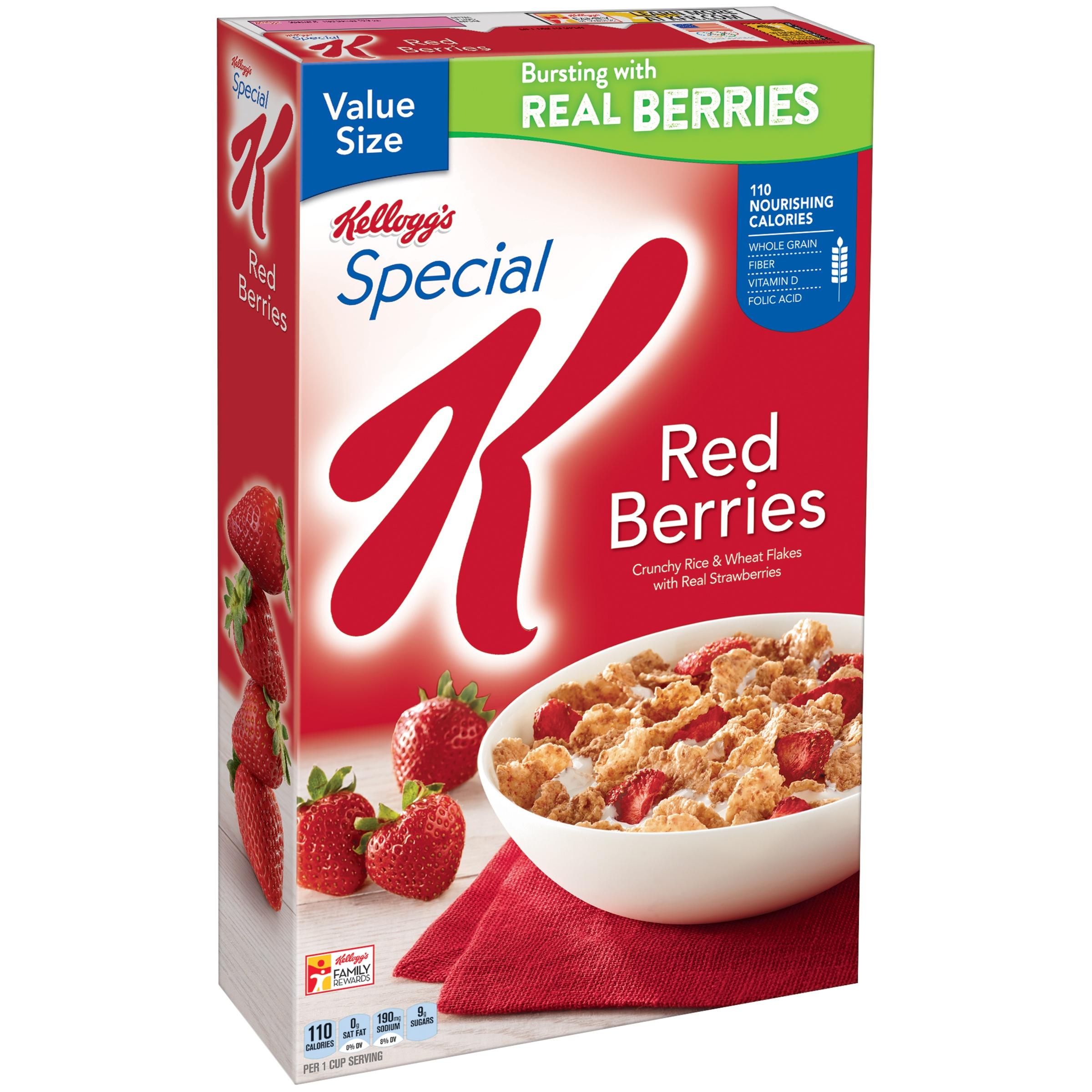 Kellogg's Special K Breakfast Cereal, Red Berries, 16.9 Oz - Walmart.com