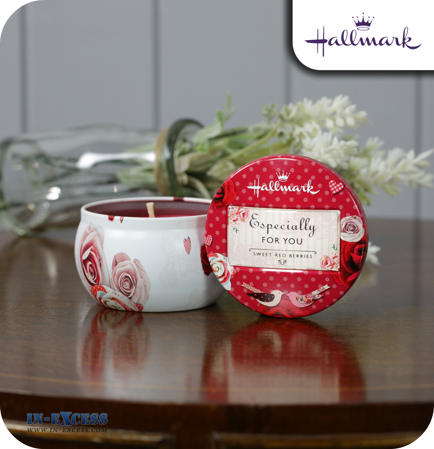 Hallmark Scented Candle Tin Especially For You - Sweet Red Berries ...