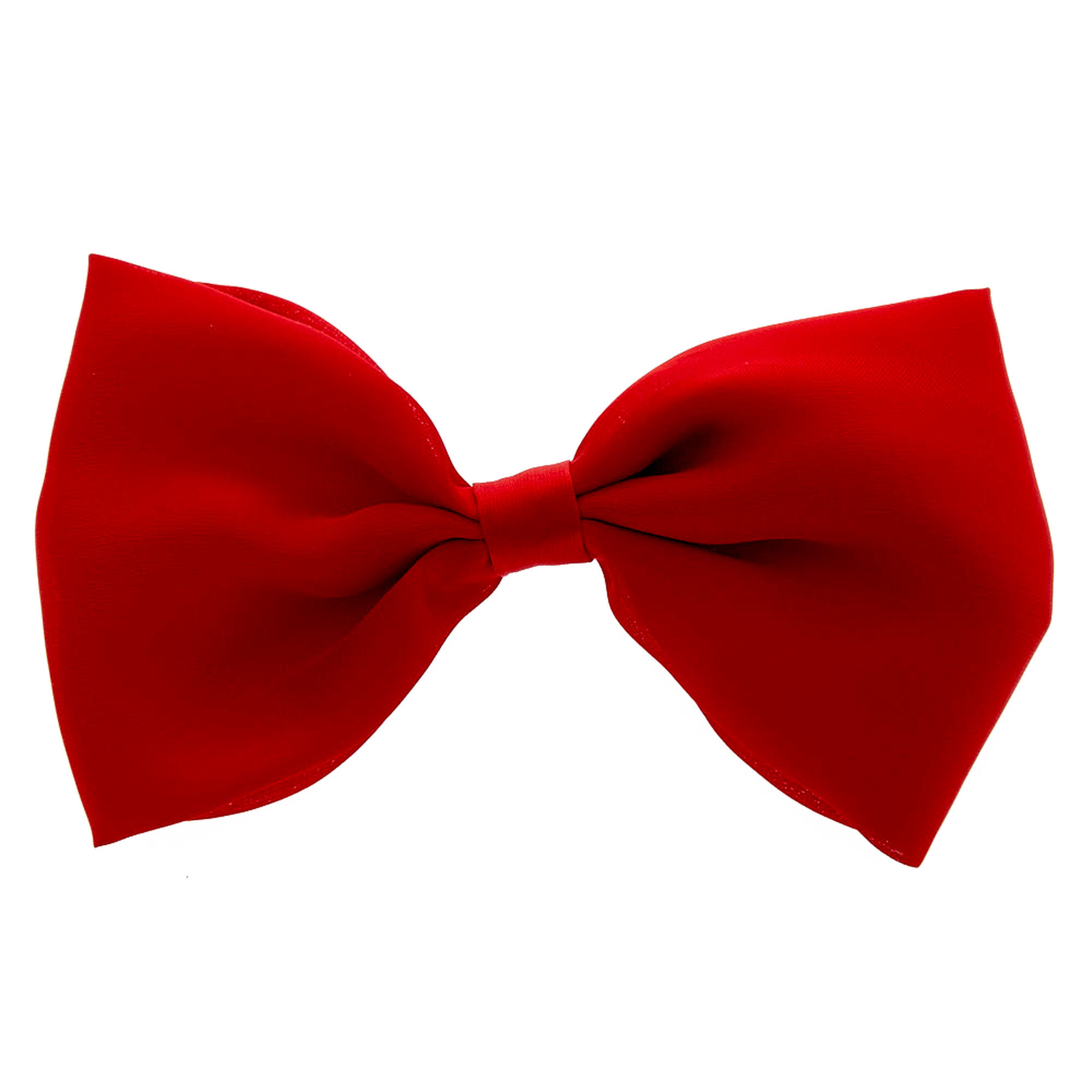 Red Satin Bow Hair Clip | Claire's US