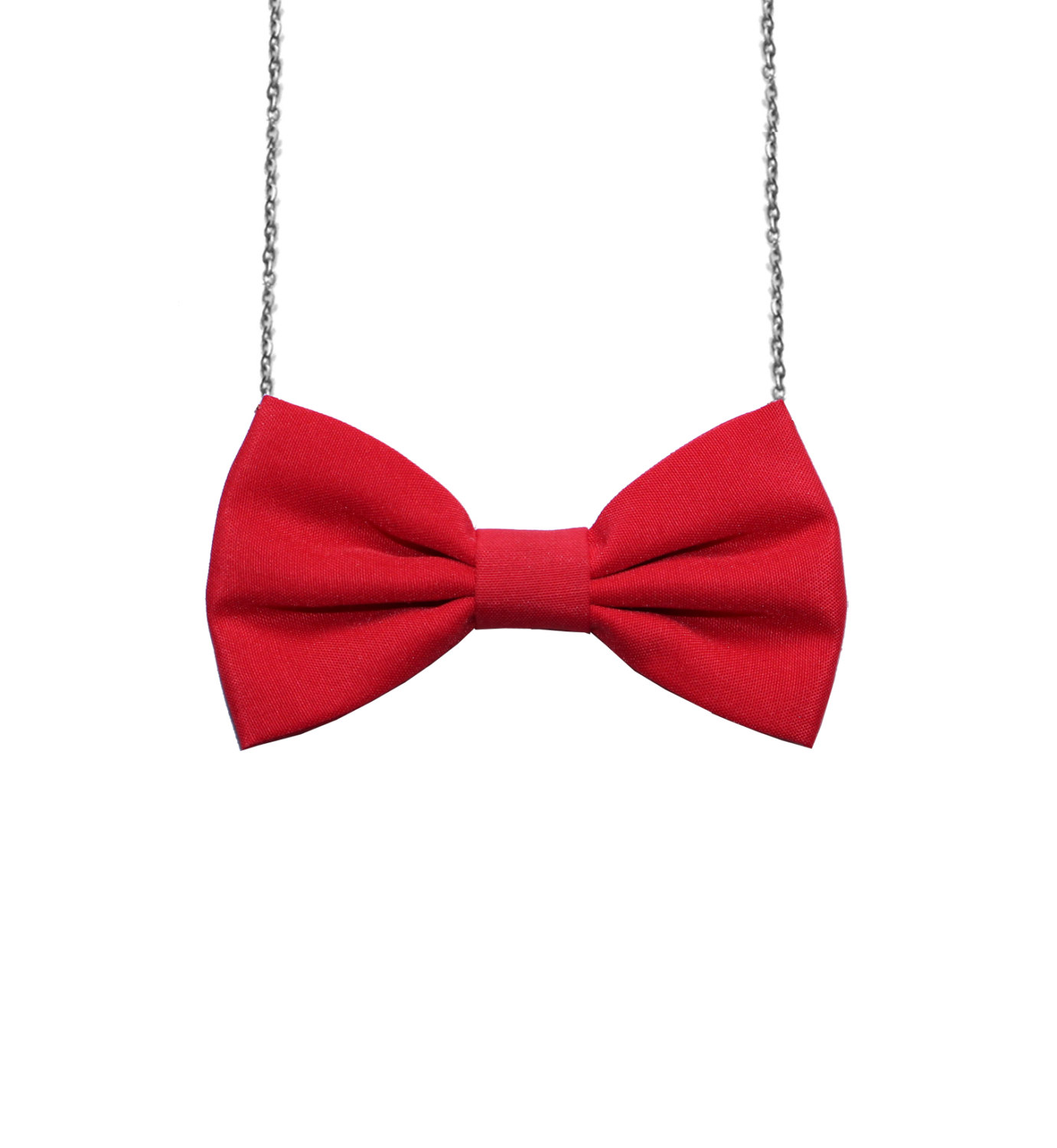 Simple Red Bow Tie Necklace Girls Bowtie Bow tie for