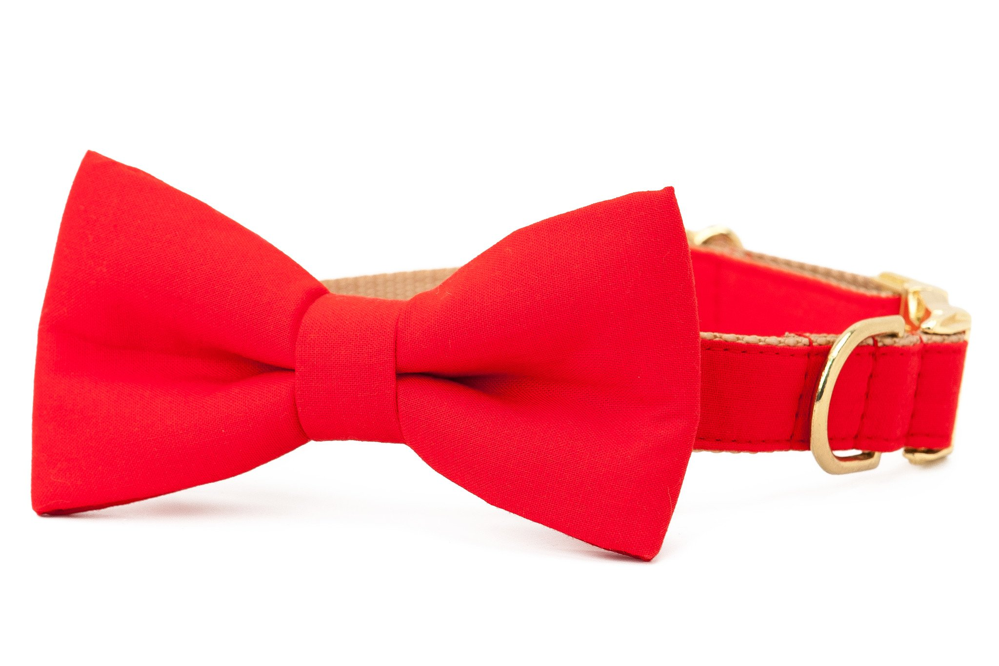 Crew LaLa™ Scarlet Red Bow Tie Dog Collar