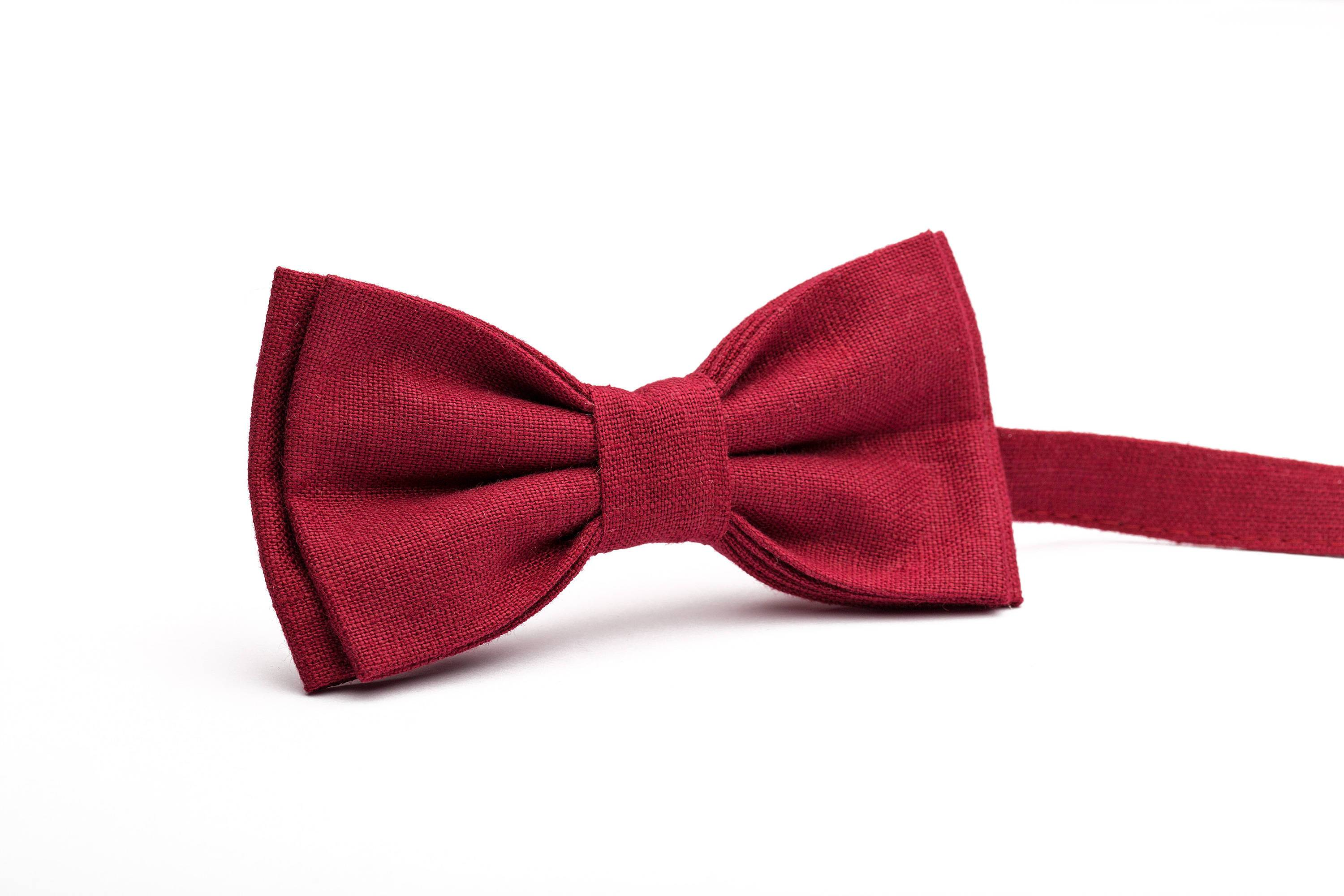 Burgundy Bow Tie, Cherry Red bow tie, Dark Red bow tie, stocking ...