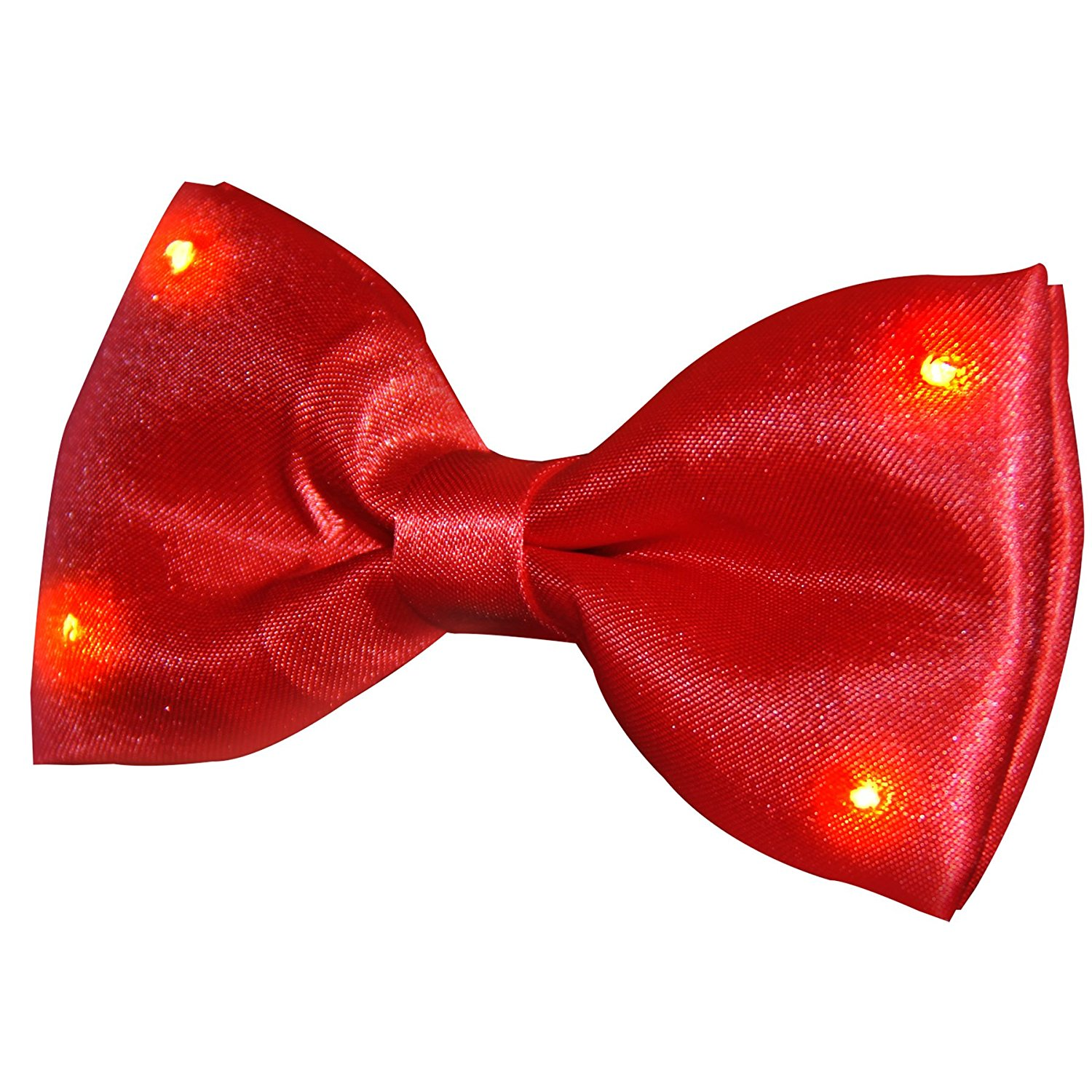 Red Bow Tie with Red LED Lights • Magic Matt's Brilliant Blinkys