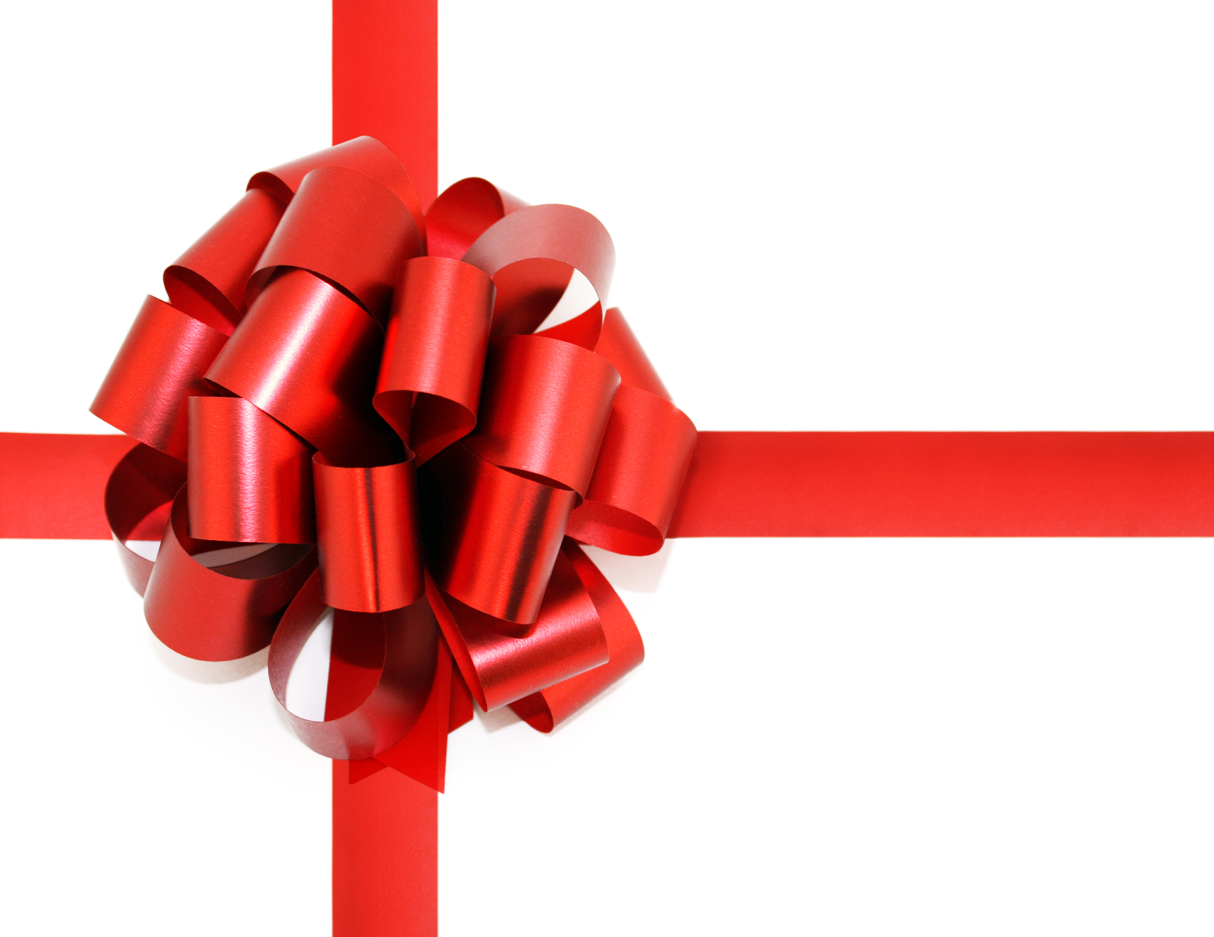 Red bow, Anniversary, Present, Isolated, Knot, HQ Photo