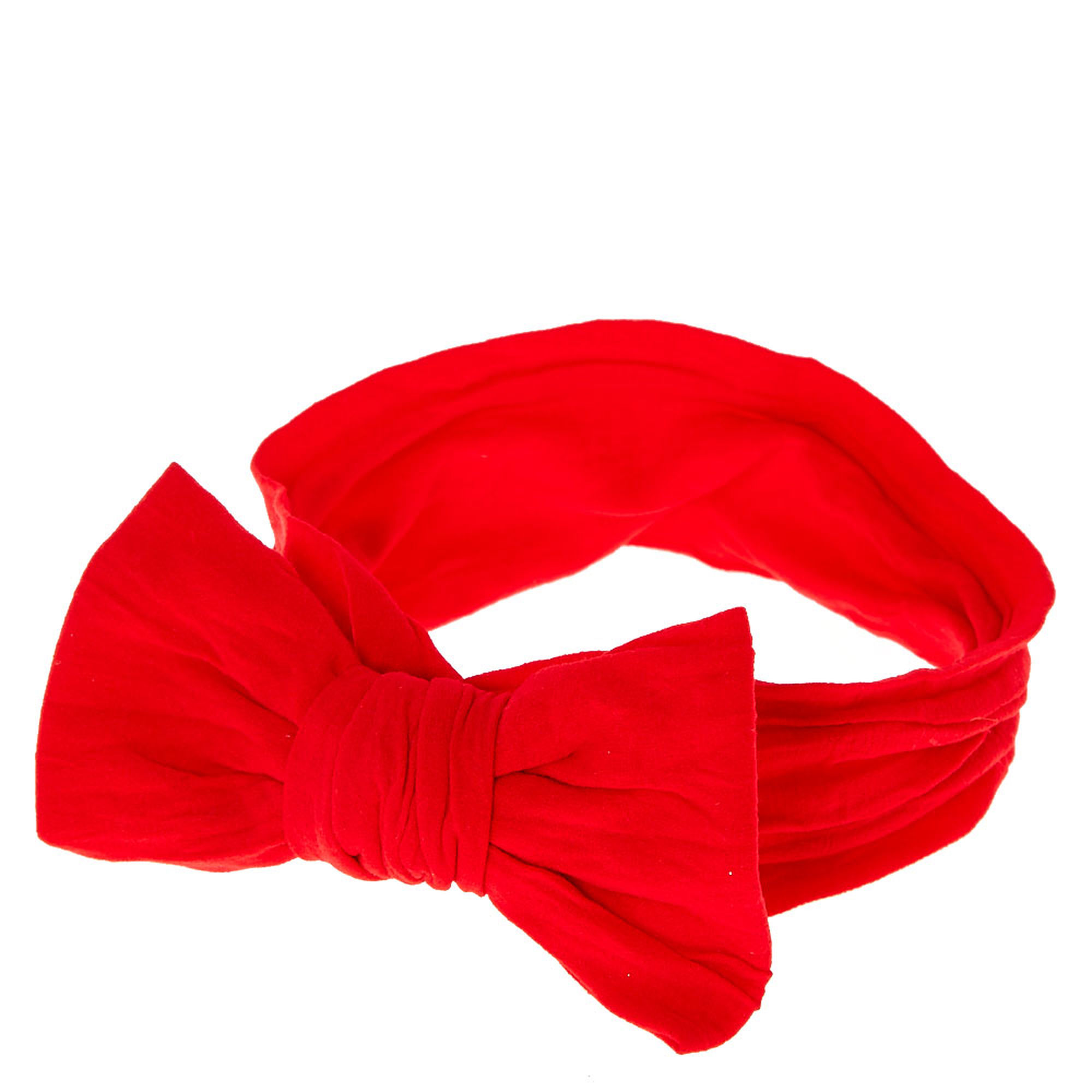 Kids Red Bow-tie Headwrap | Claire's