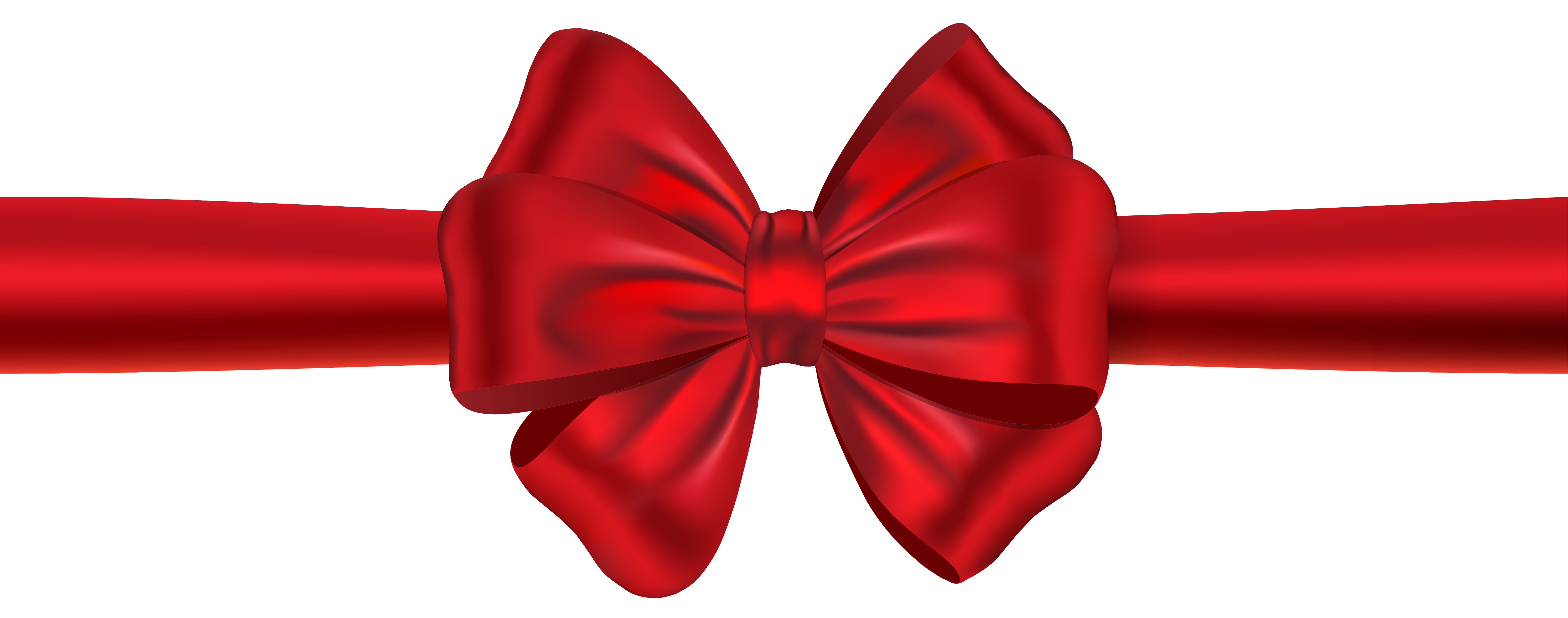 Red Ribbon with Bow PNG Clipart Image | Gallery Yopriceville - High ...