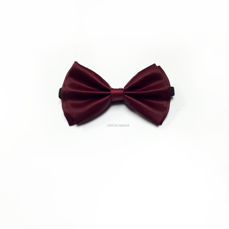 Burgundy Bow Tie Cranberry bowtie Burgundy Tuxedo Bow Tie