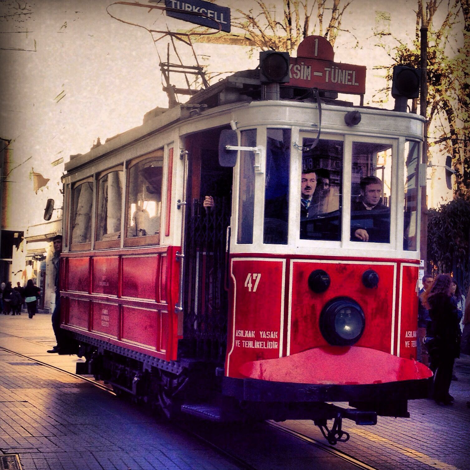 Istanbul #tram #transport #center #red #istiklal #caddesi #old ...