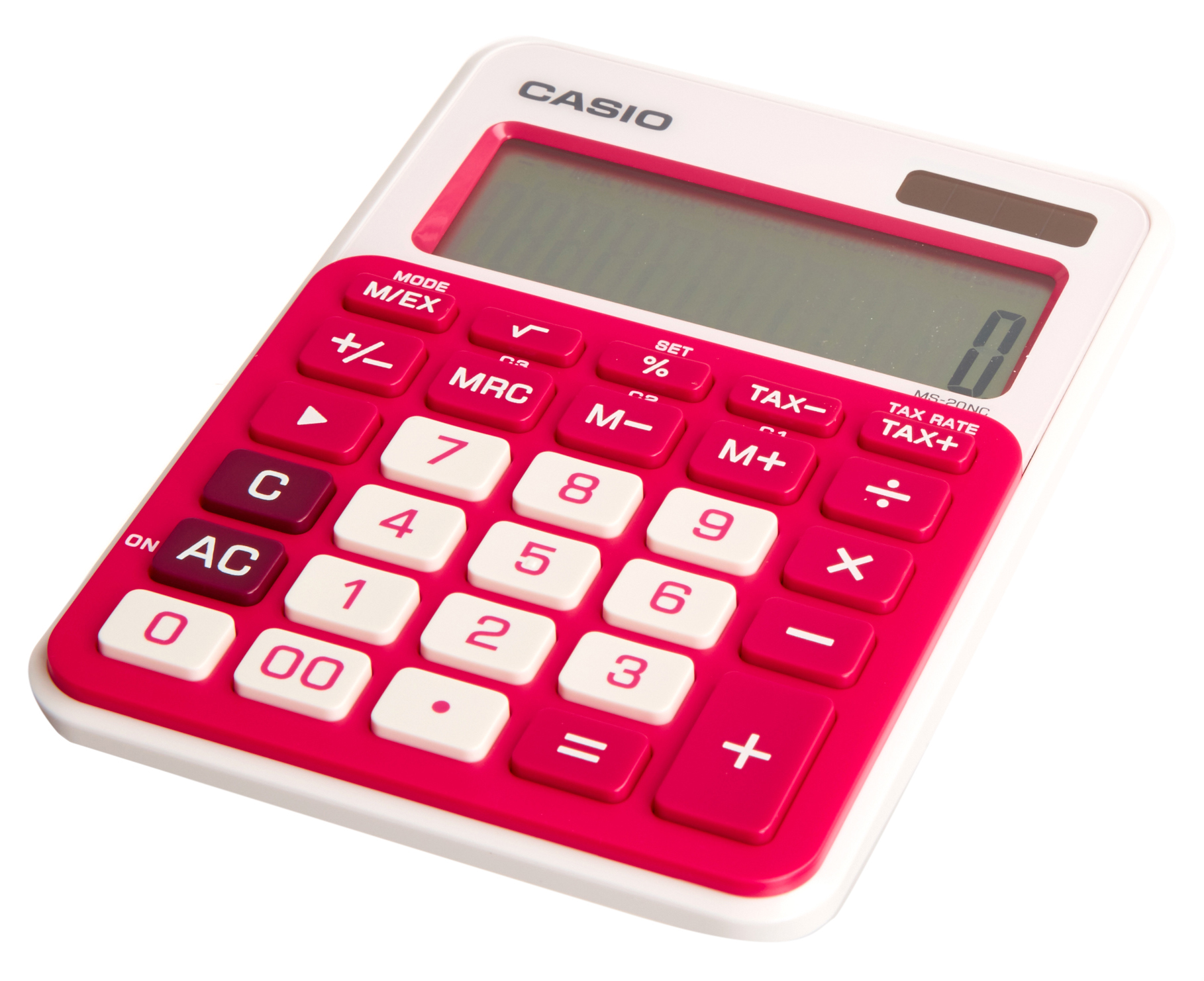 Casio MS-20 12 Digit Desk Calculator Red - Calculators - Home ...