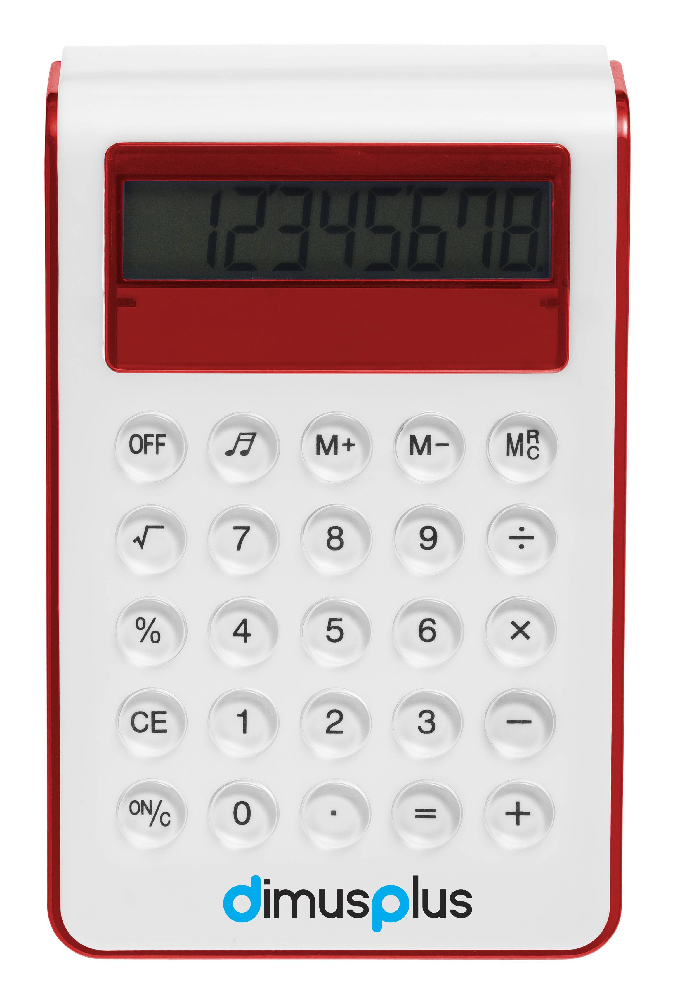 Soundz Desk Calculator, red (calculator) - Reklámajándék.hu Ltd.