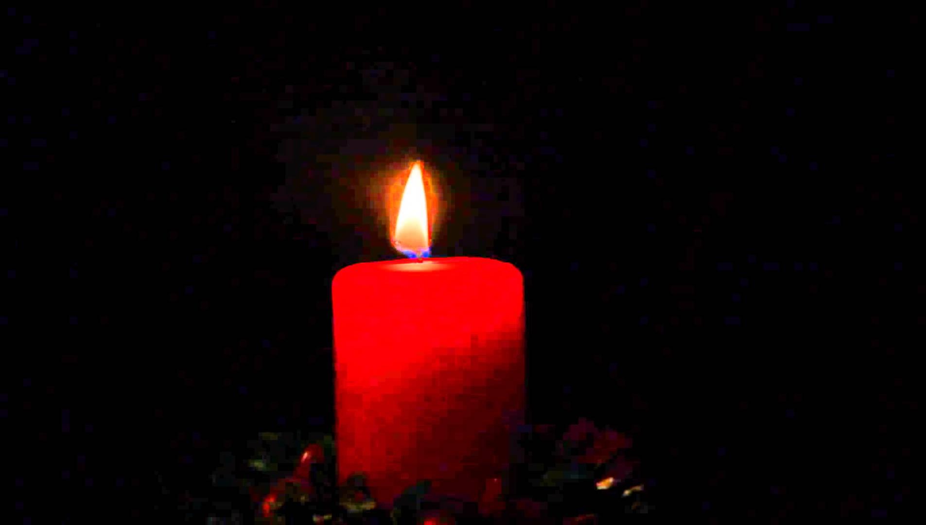 red candle burning - YouTube