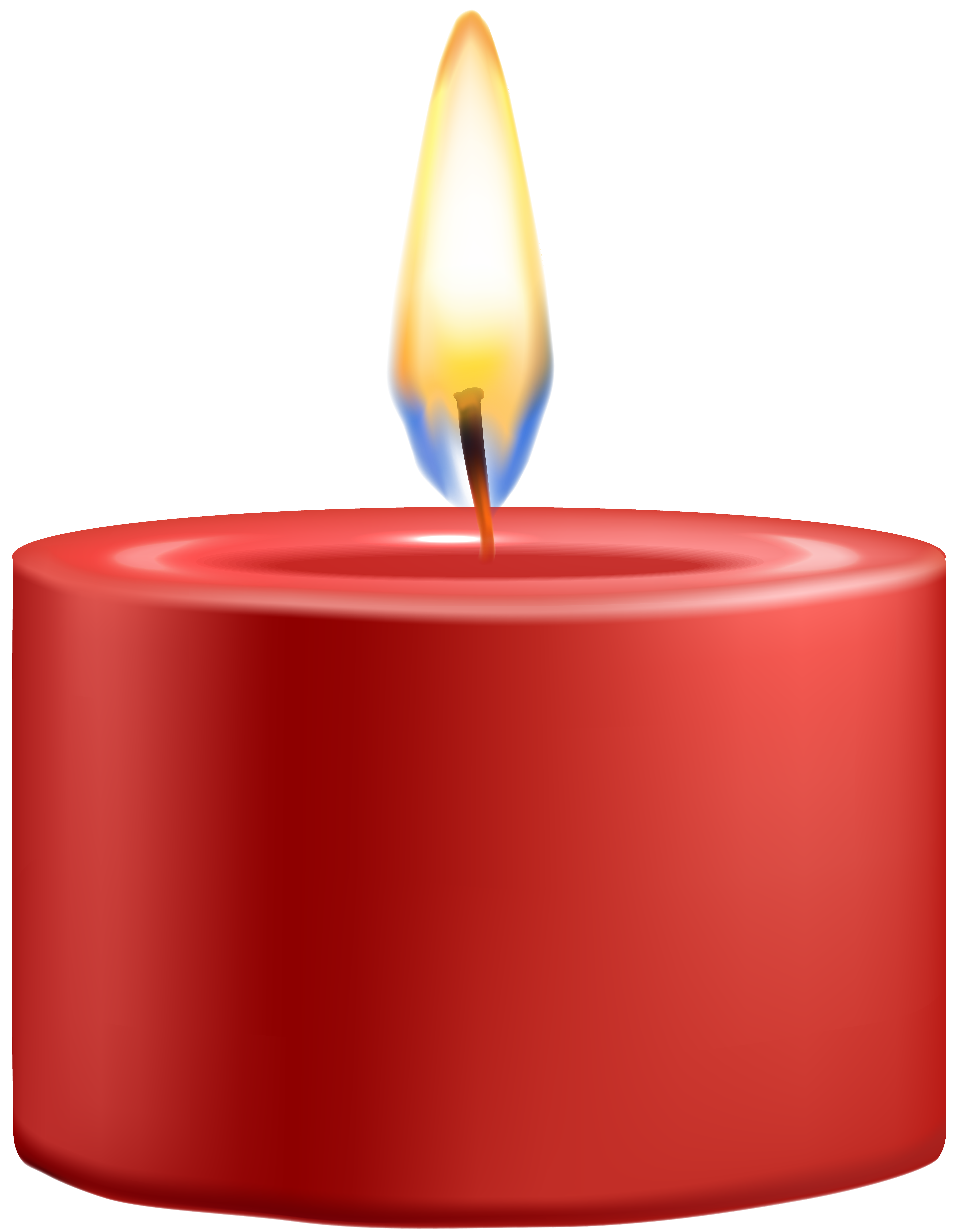 Red Candle PNG Clip Art - Best WEB Clipart