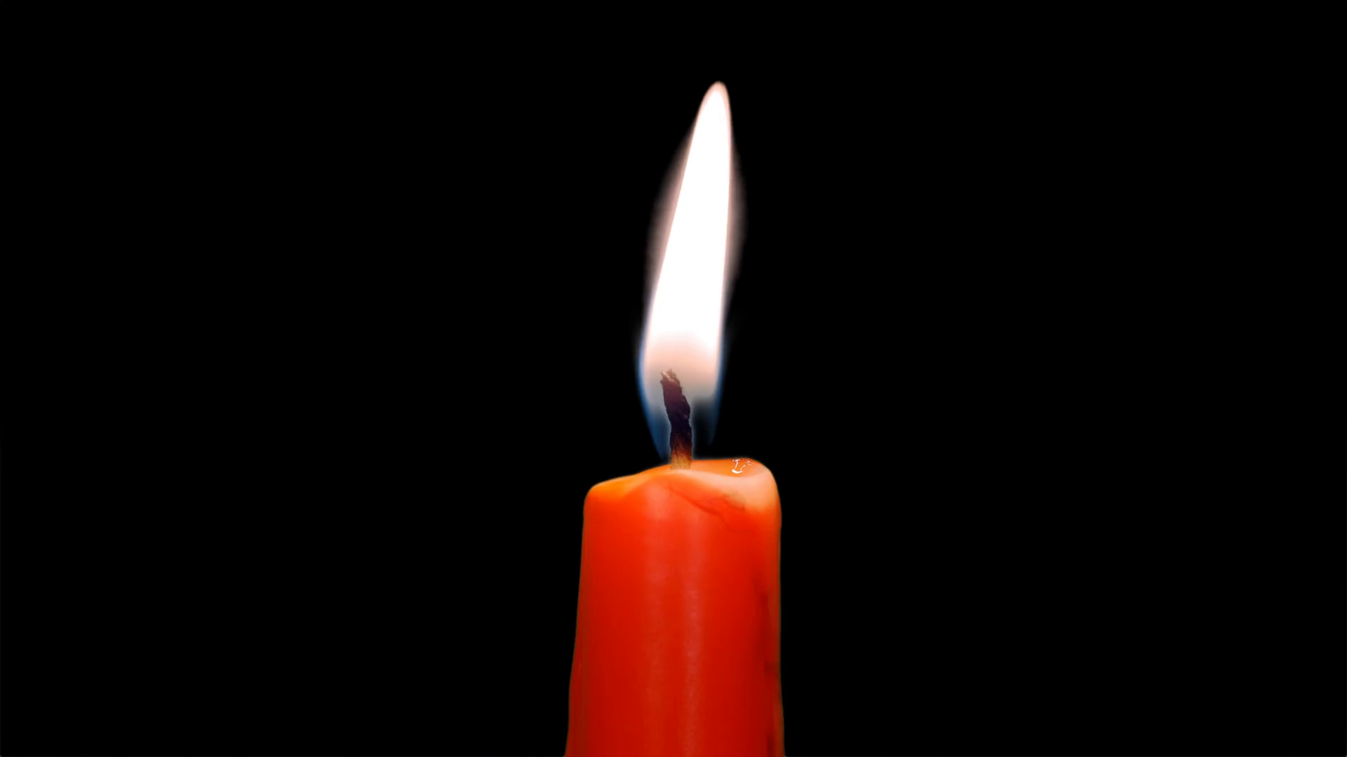 Burning red candle, alpha channel Stock Video Footage - Videoblocks