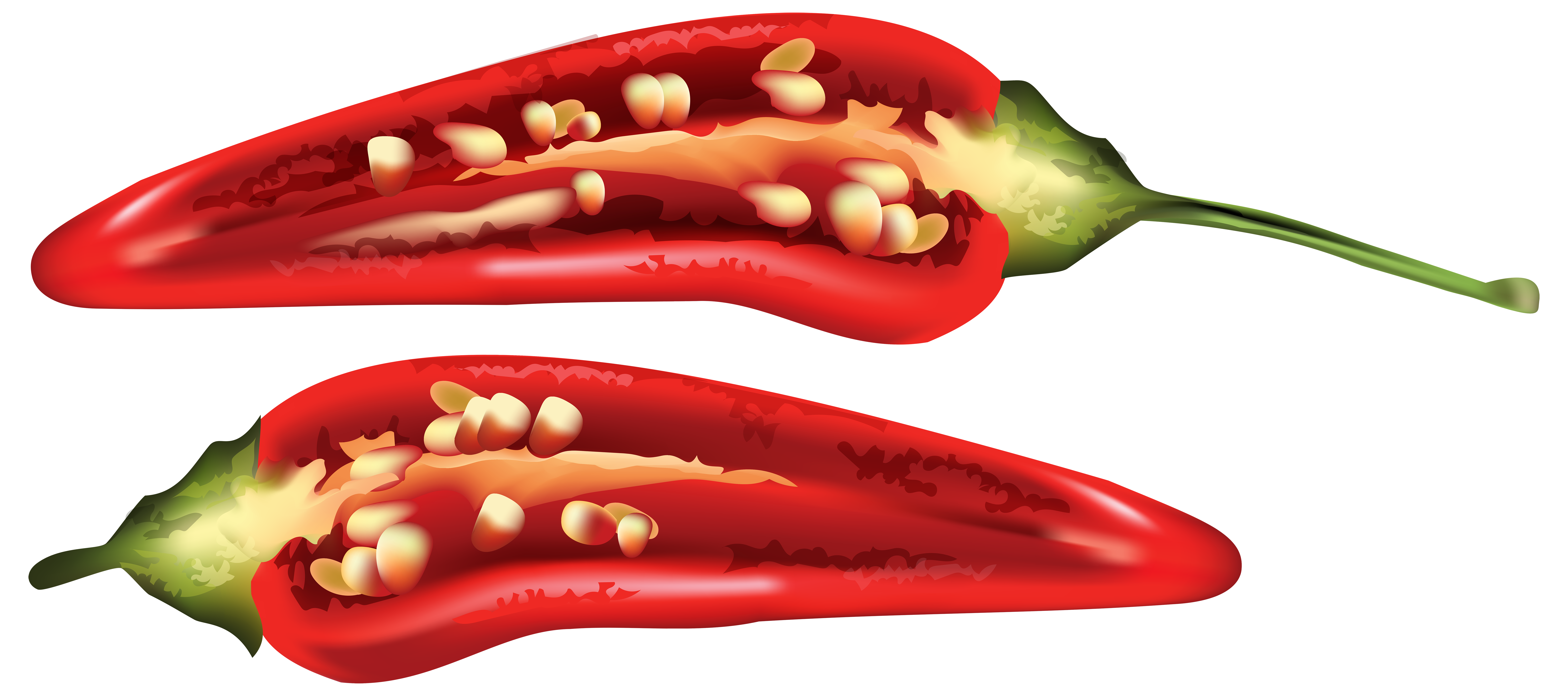 Half Red Chili Pepper PNG Clip Art Image | Gallery Yopriceville ...