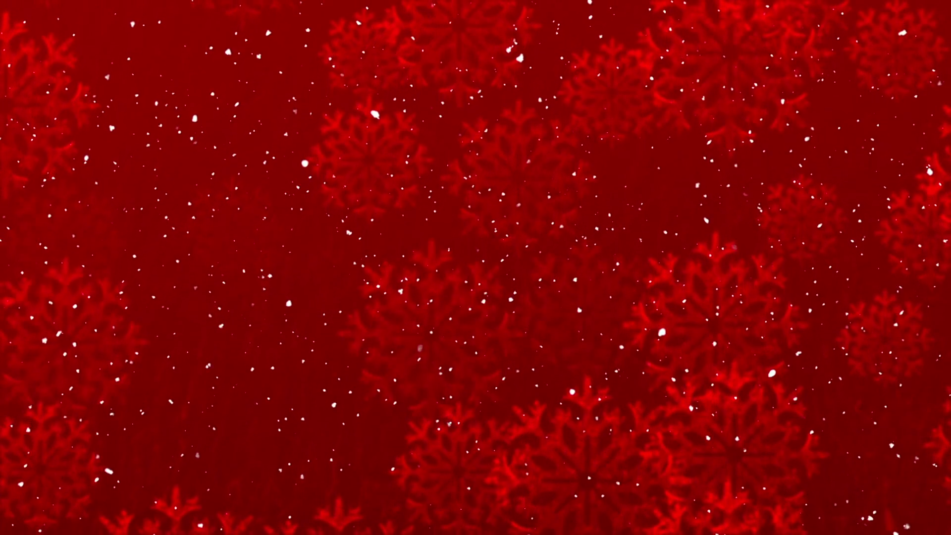 Winter Joy Motion Background. Red Christmas Snow Motion Background ...