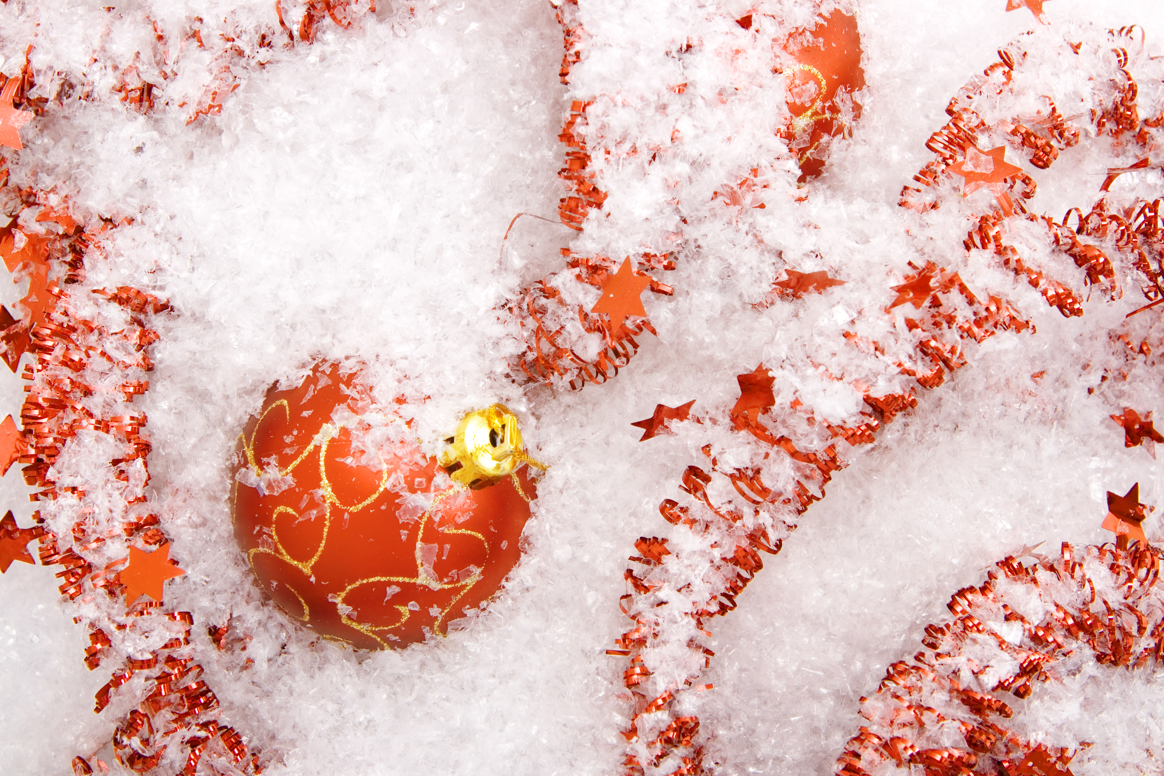 Red christmas ball ornament photo