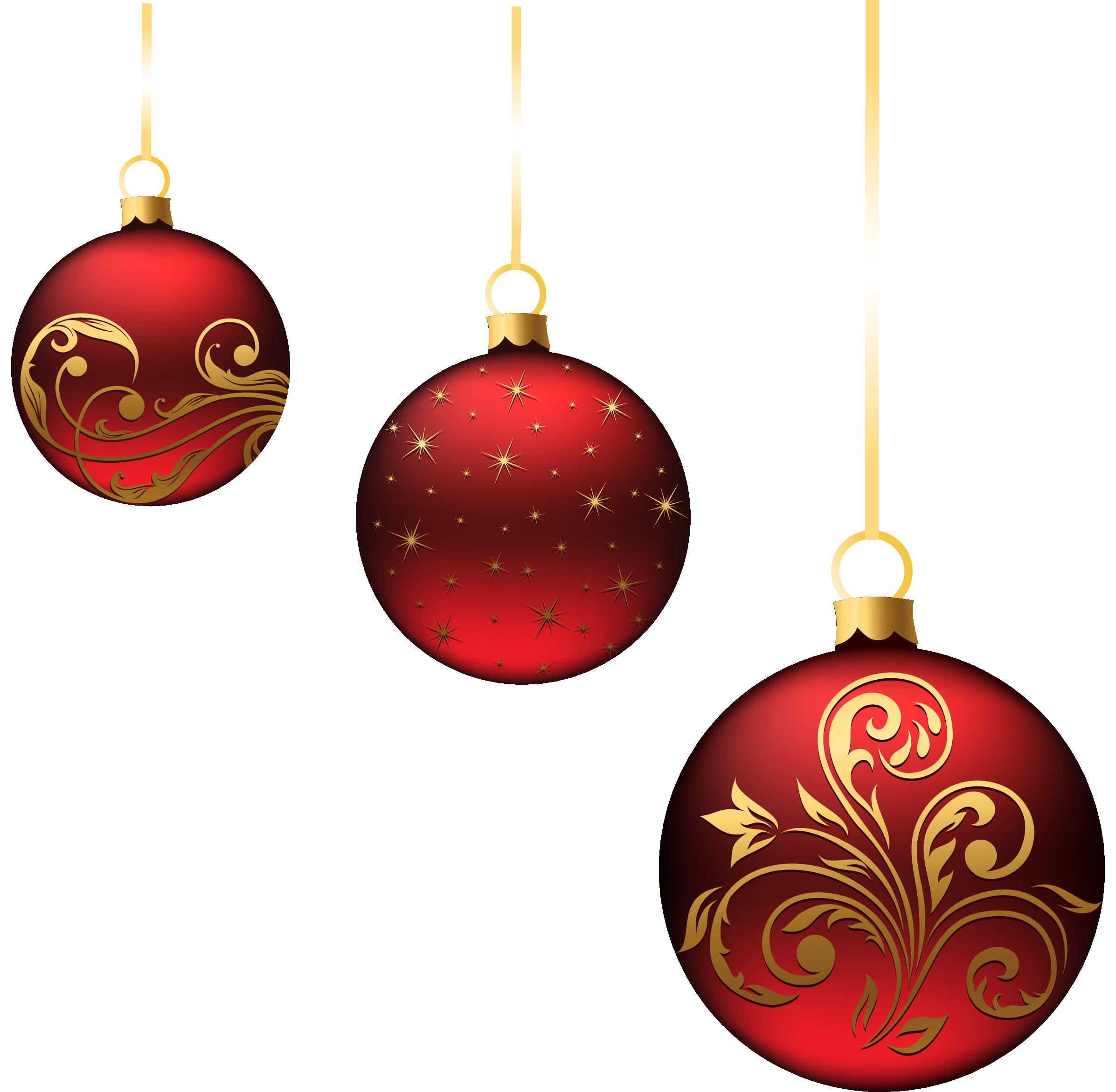Christmas Red Balls Ornaments PNG Picture | Projekty na vyzkoušení ...