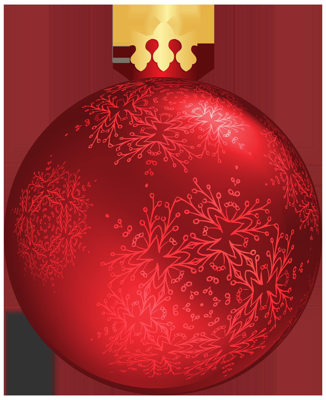 Red Christmas Balls Clipart - ClipartXtras