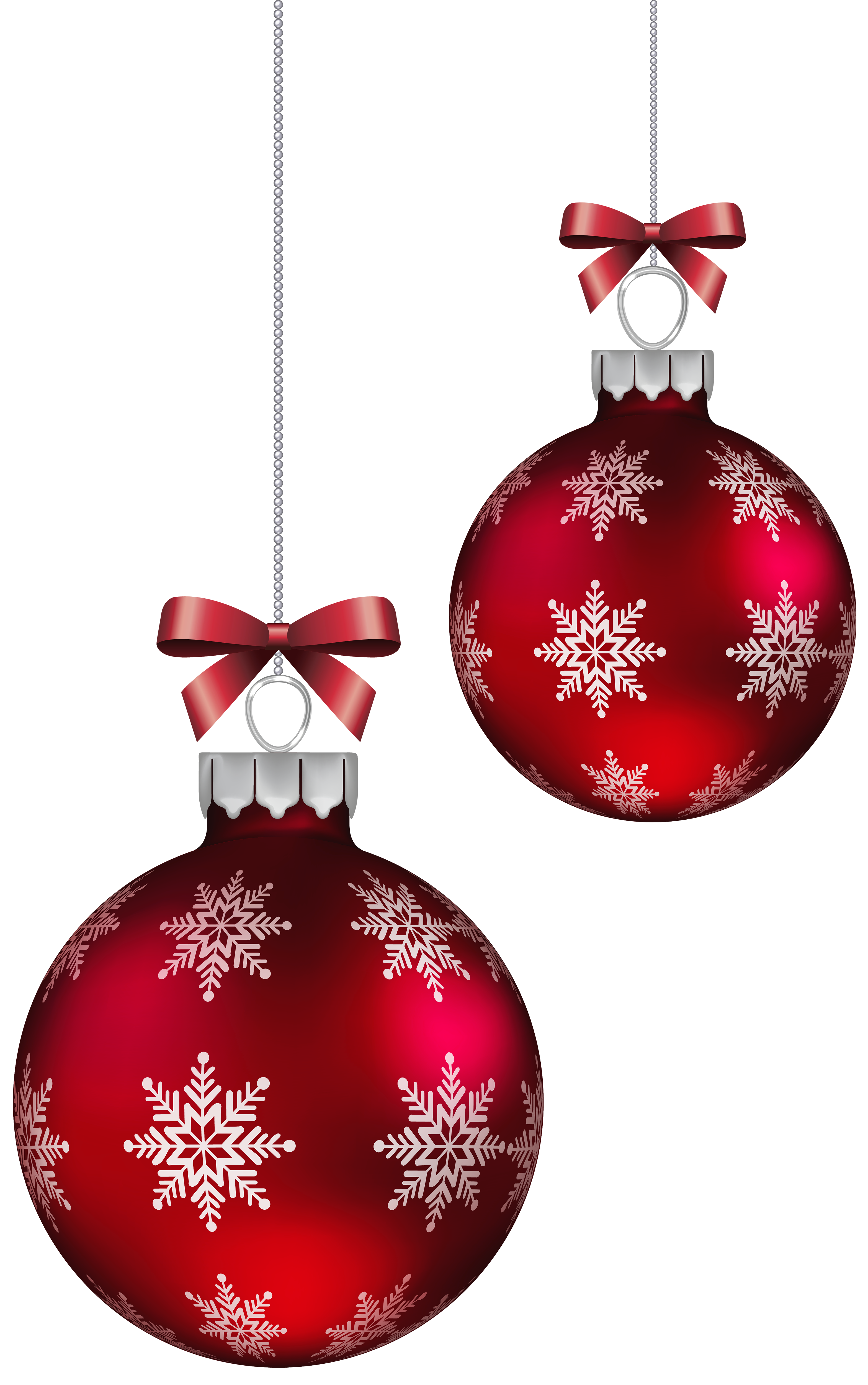 Red Christmas Balls Decoration PNG Clipart Image | Gallery ...