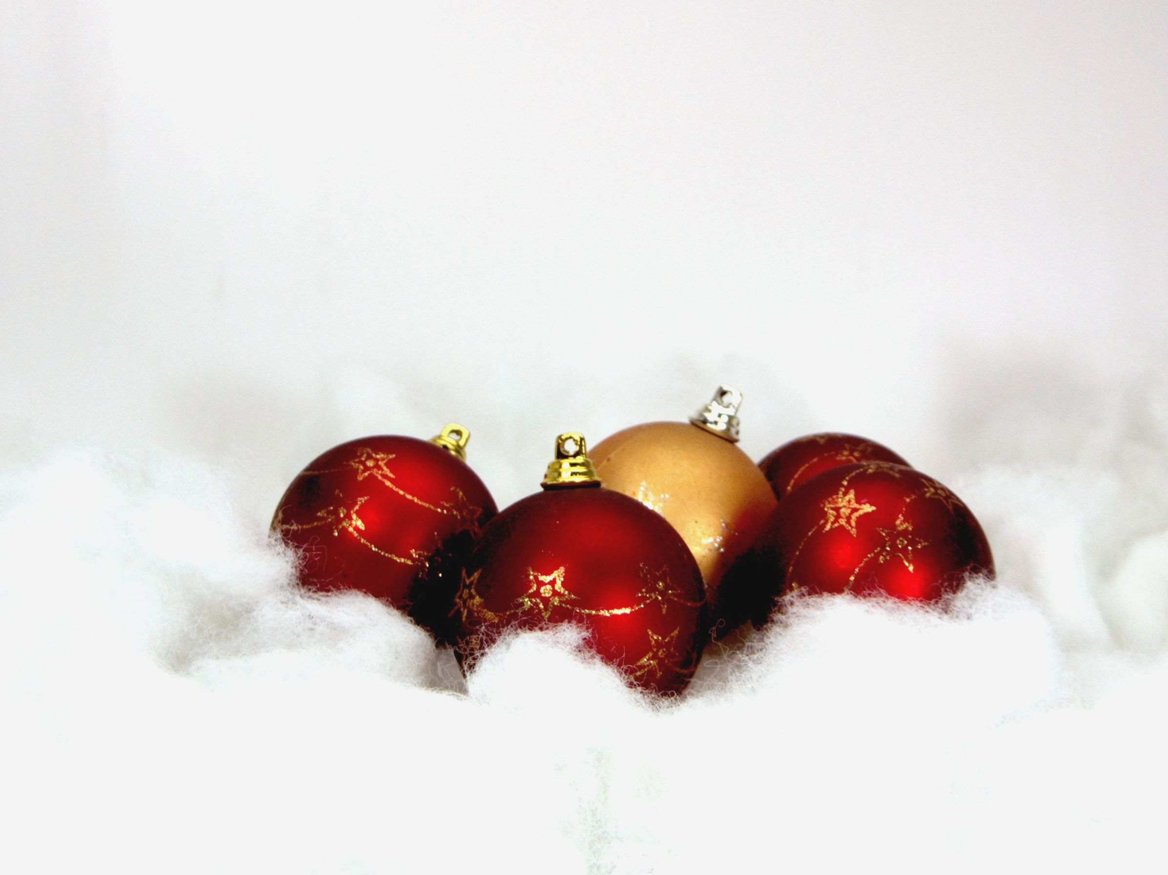 Red christmas balls, Year, Isolated, Xmas, Winter, HQ Photo