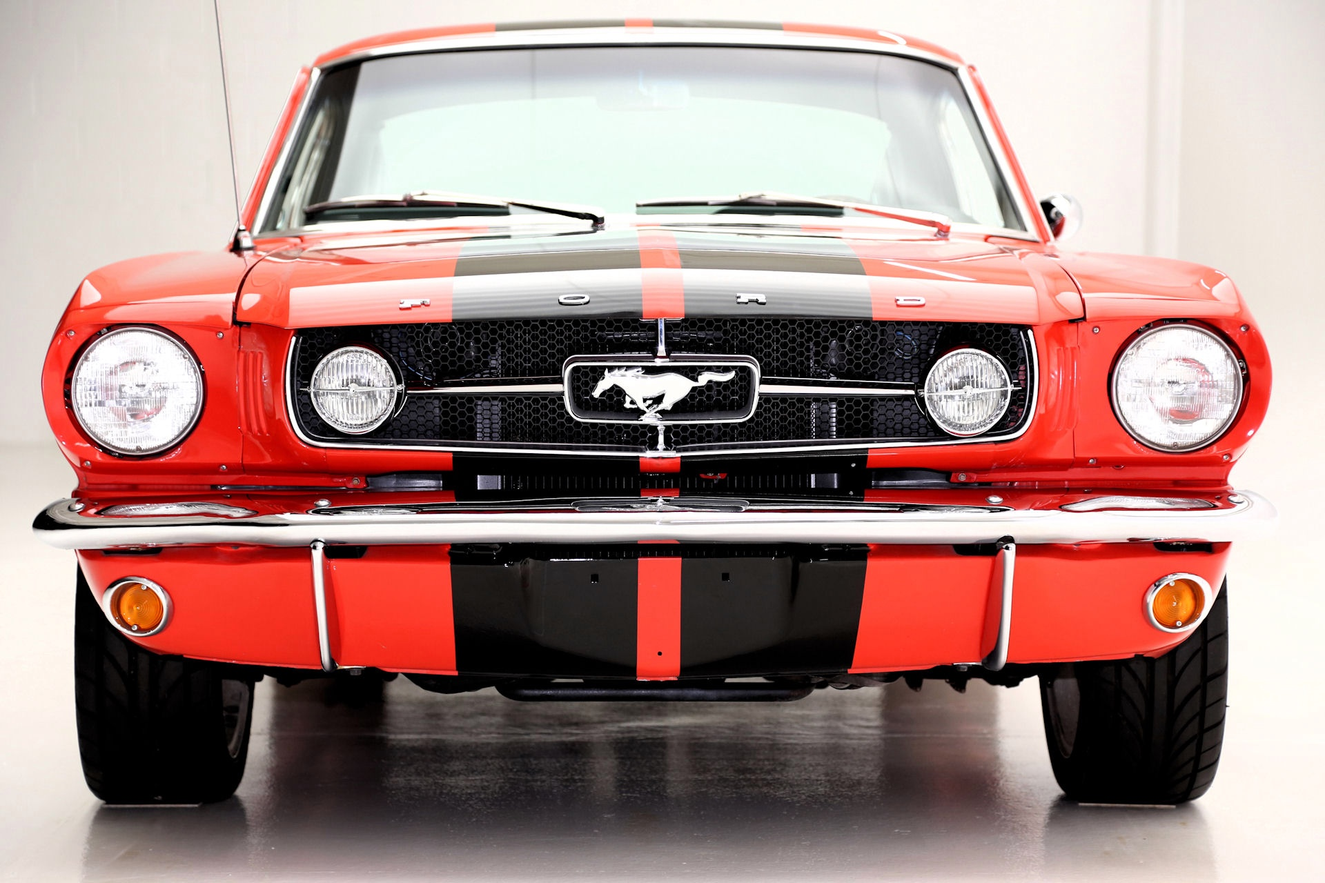 1965 Ford Mustang Fastback poppy red, blk interior - American Dream ...