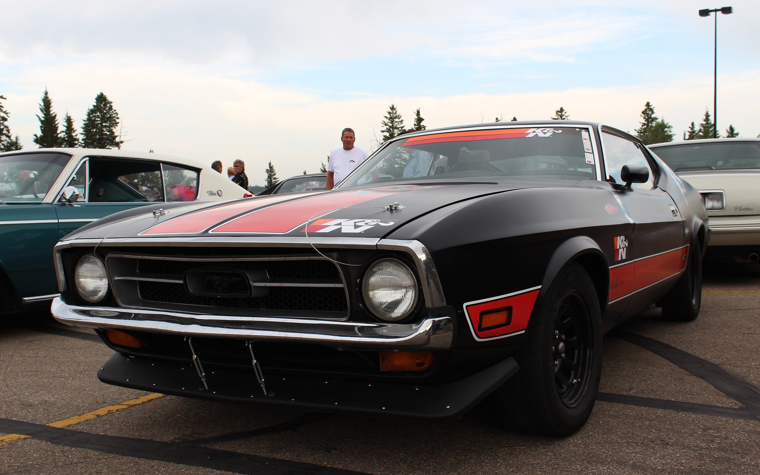 Black and red classic coupe during daytime HD wallpaper | Wallpaper ...
