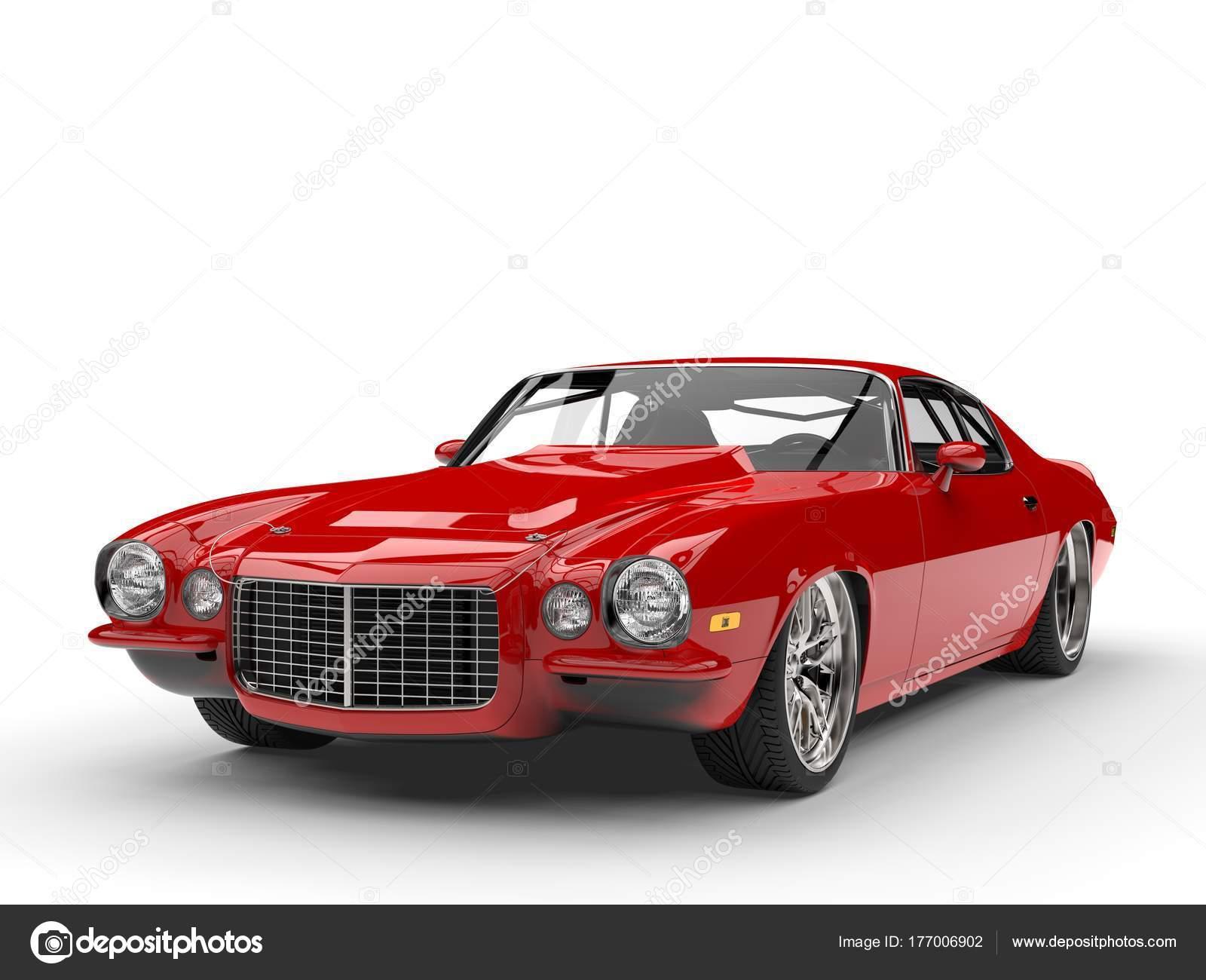 Scarlet Red Classic Vintage American Car — Stock Photo © Trimitrius ...
