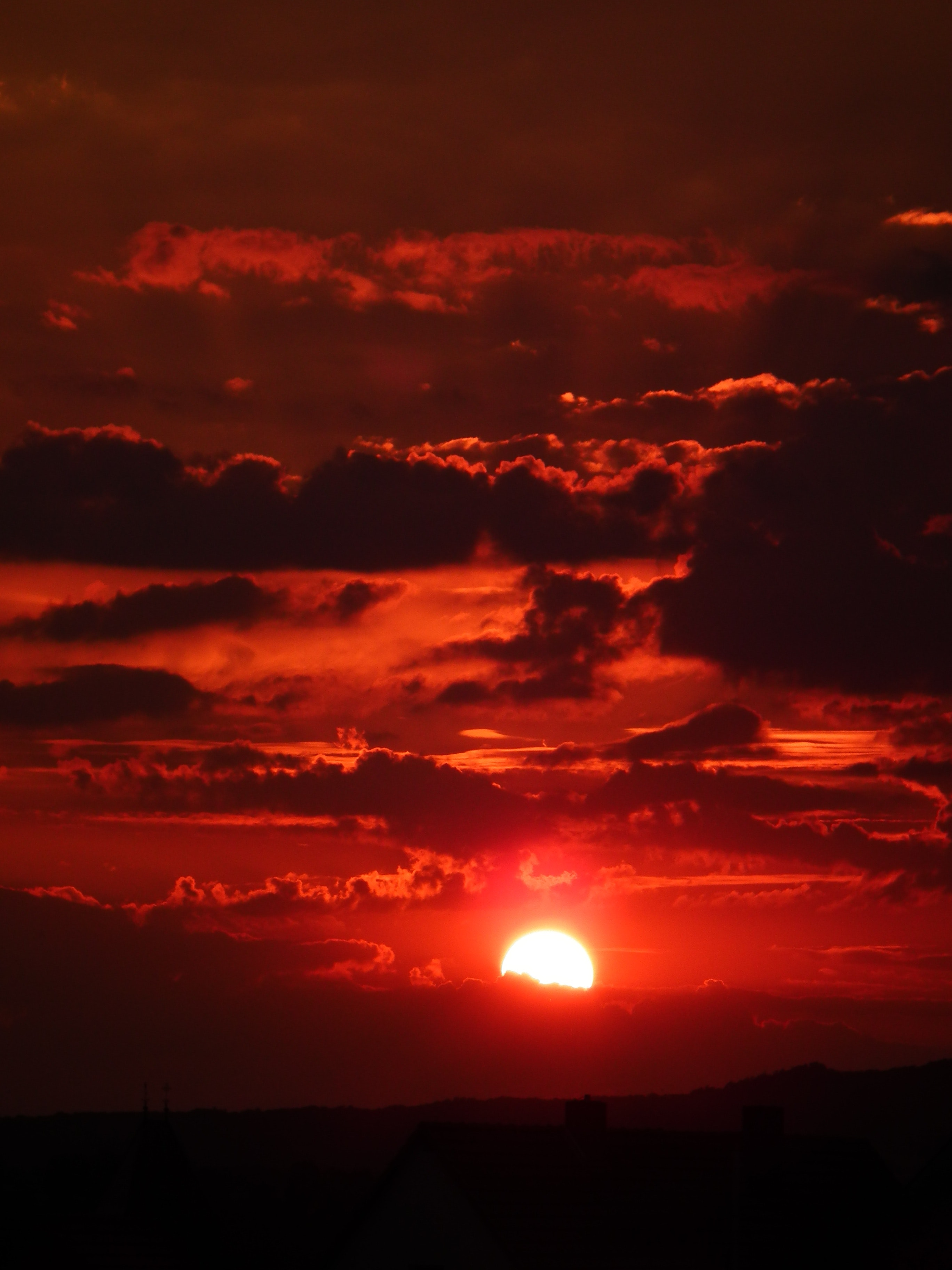Red Cloudy Sky during Sunset, Clouds, Dawn, Dusk, Nature, HQ Photo