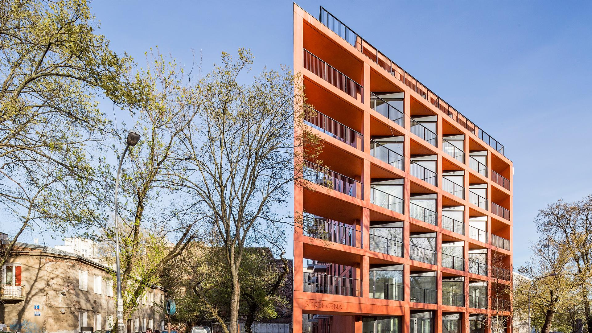 BBGK highlights Polish prefabrication in brick-red concrete - News ...