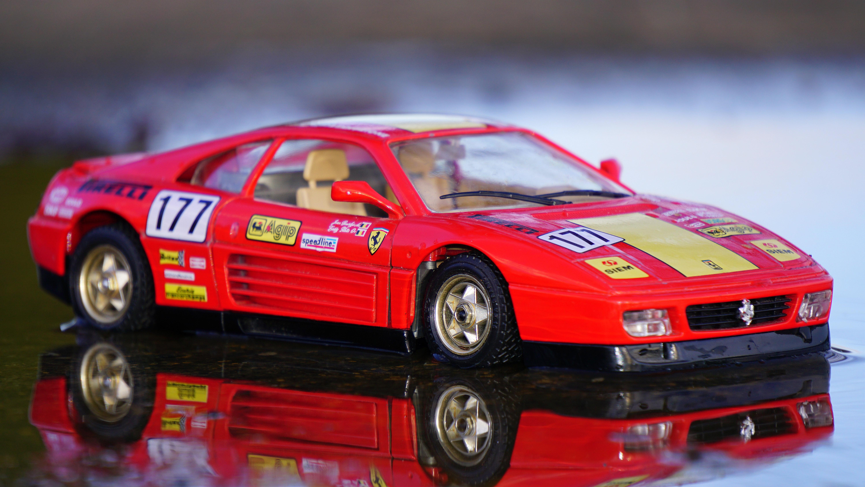 Red Coupe Car Toy, Ferrari, Miniature, Model car, Red, HQ Photo