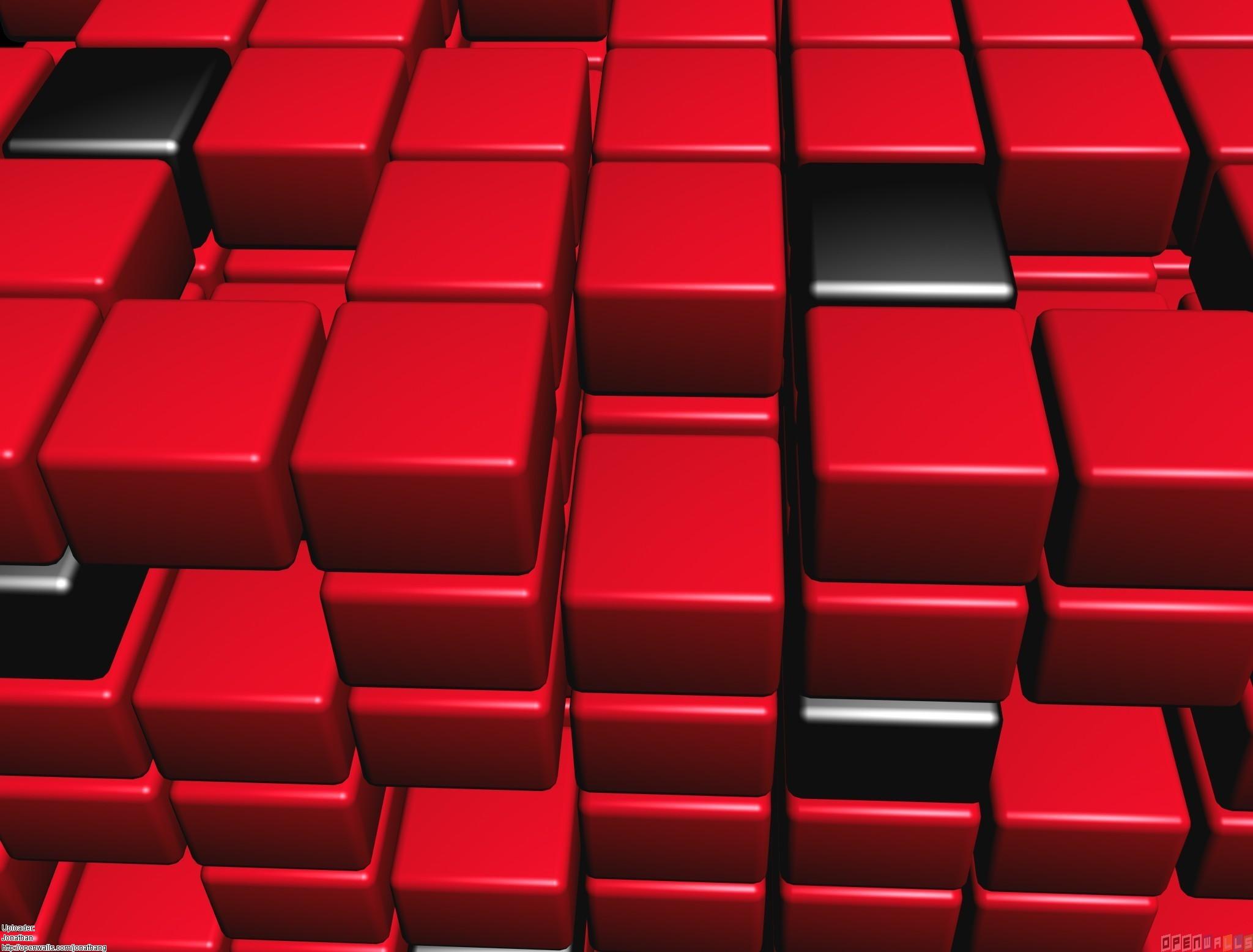 Red cubes wallpaper #22352 - Open Walls