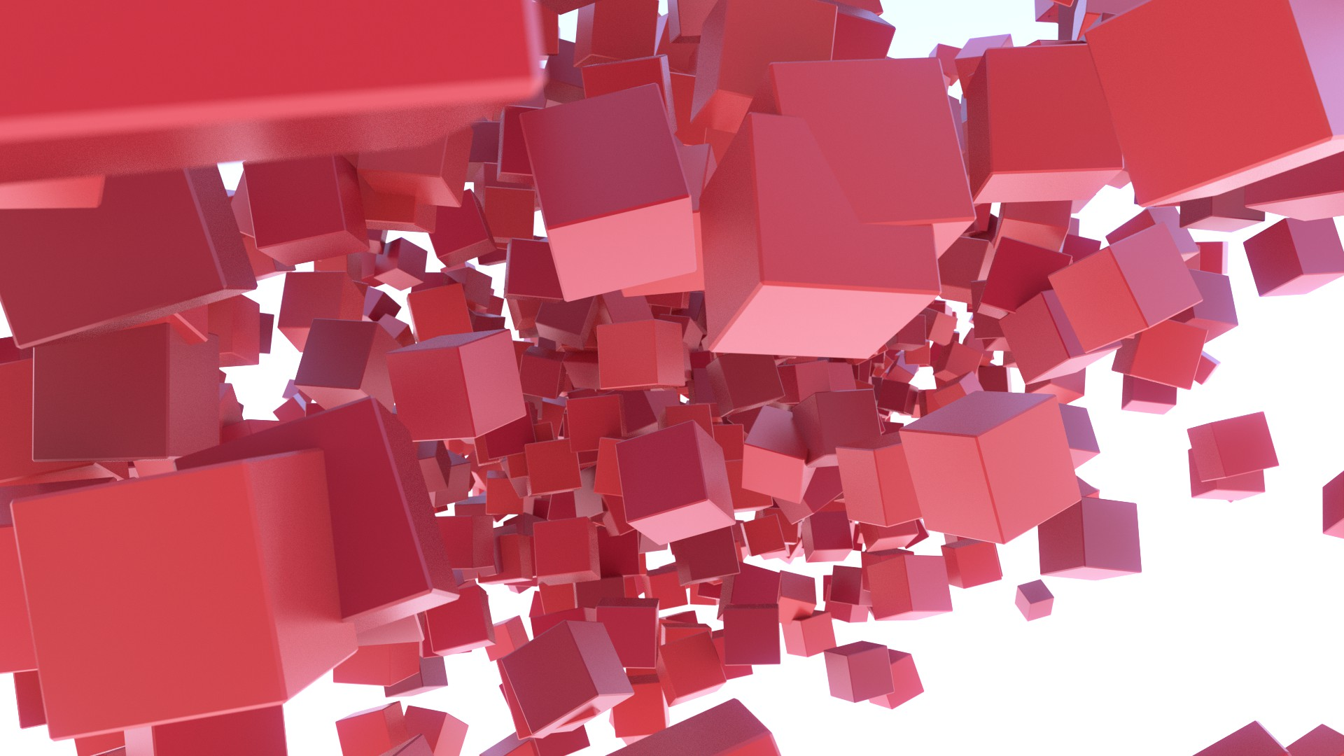 Red cubes photo