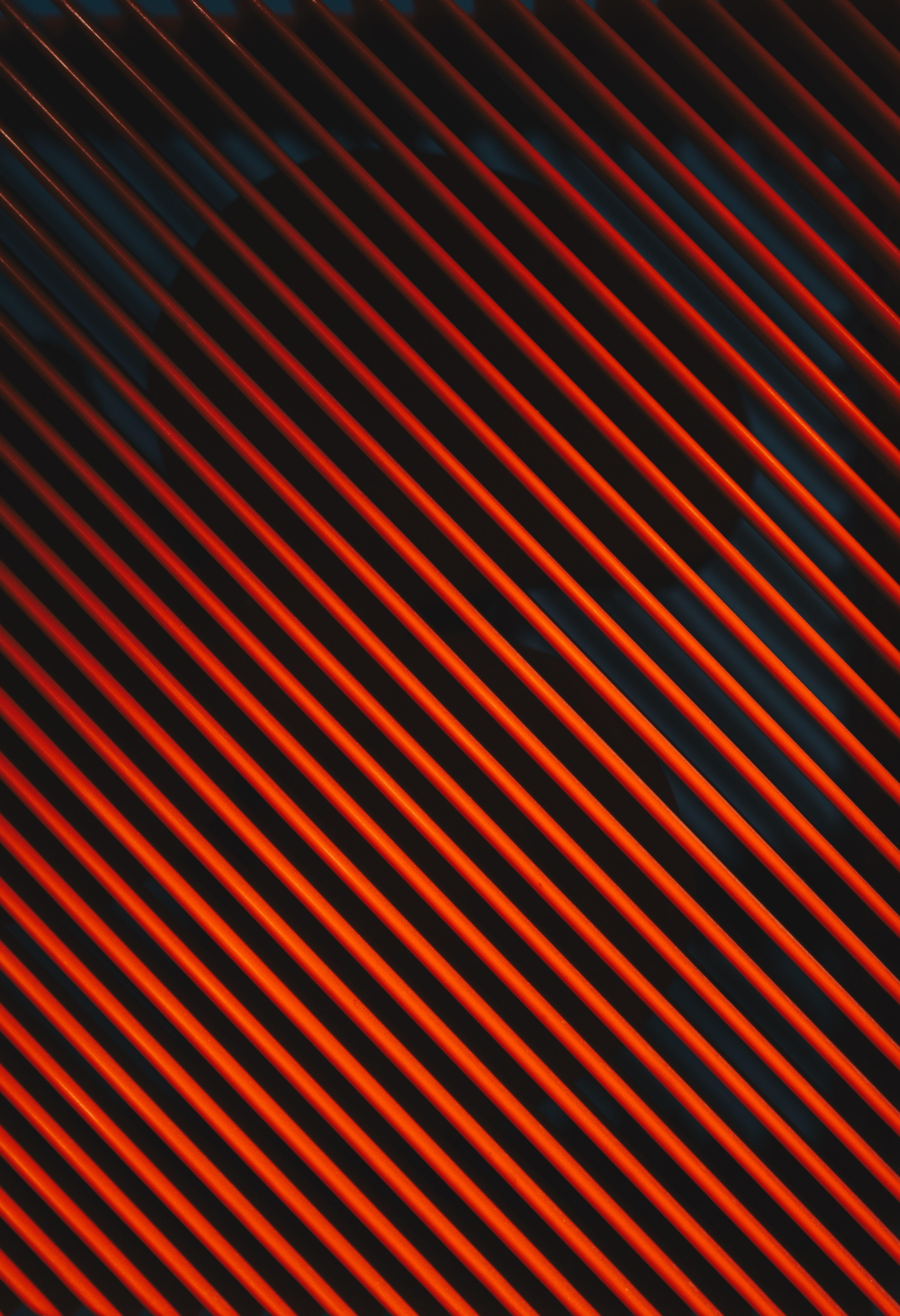 Red diagonal stripes photo
