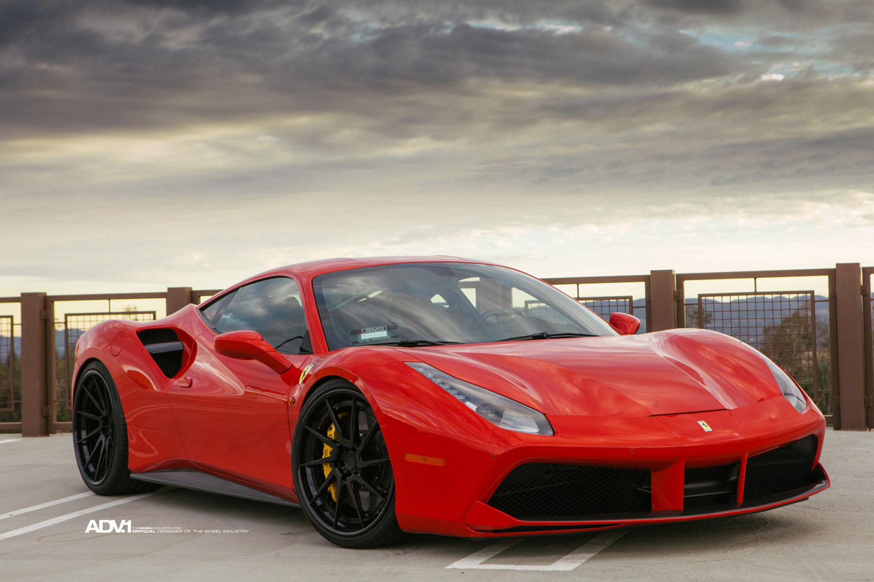 Red Ferrari 488 GTB - ADV10R Track Spec CS Directional Wheels - ADV ...