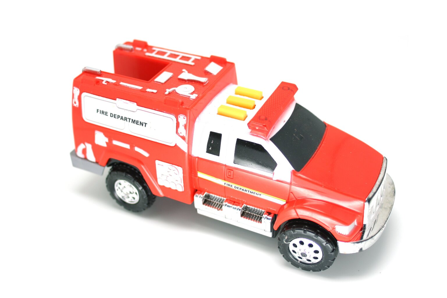 Red fire engine toy photo
