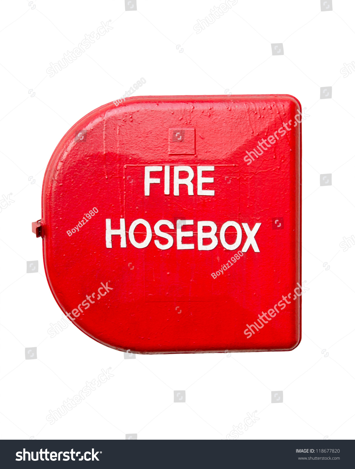 Red Fire Hose Box Isolated White Stock Photo 118677820 - Shutterstock