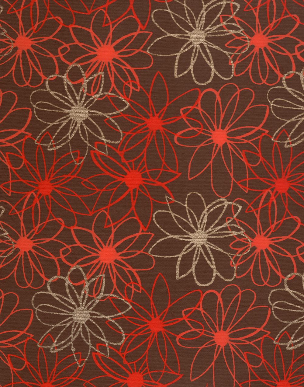 red floral scrapbook paper