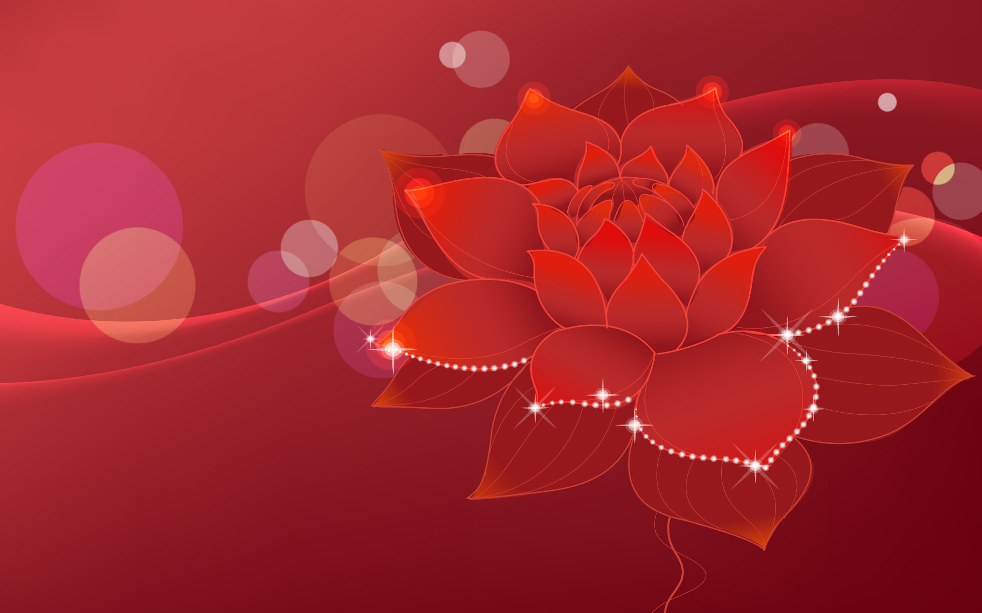 Red flower background photo