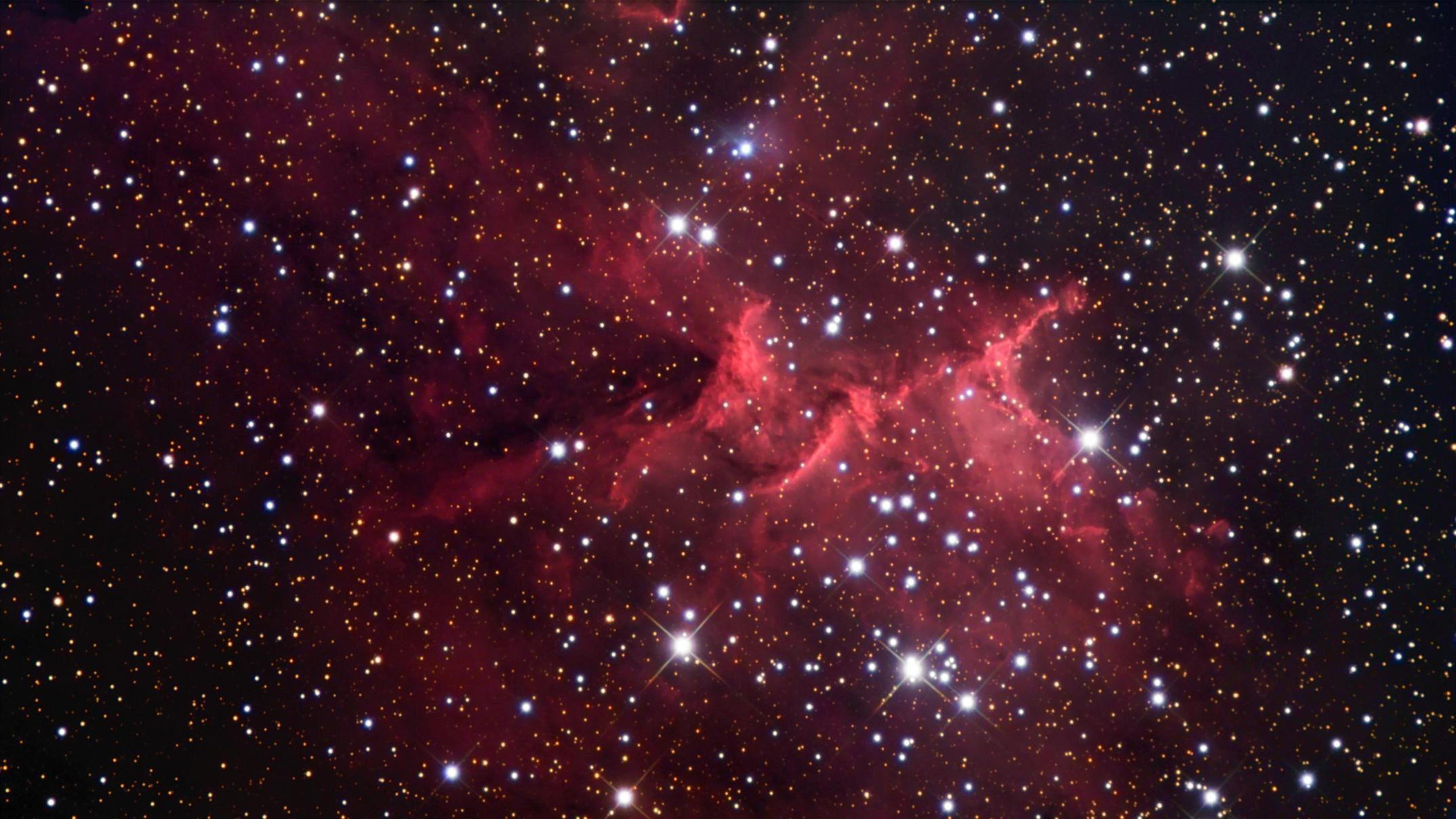 Free Photo Red Galaxy