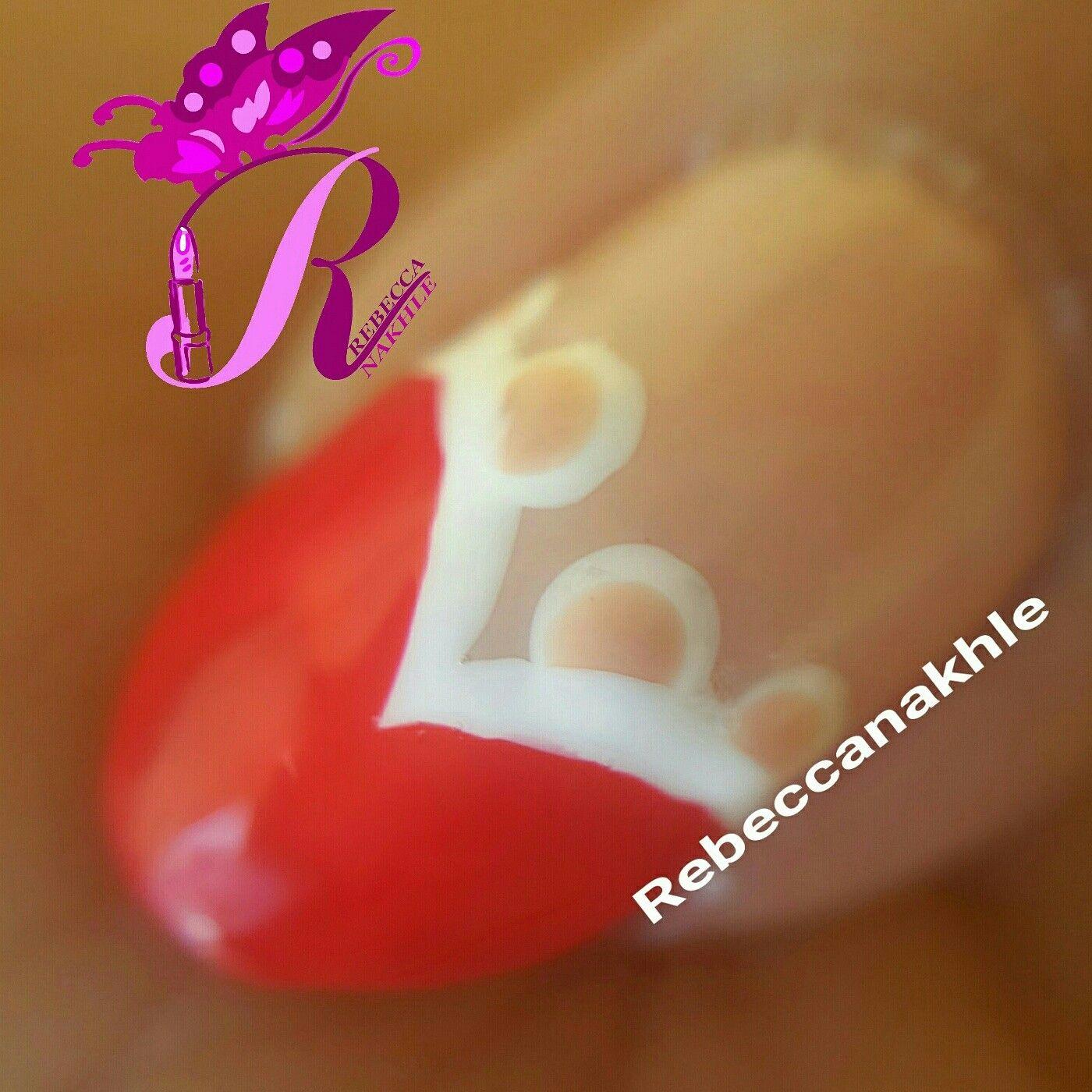 هذه #أظافر اليوم A Macro Shot of my Simple Lace Heart Nails using ...