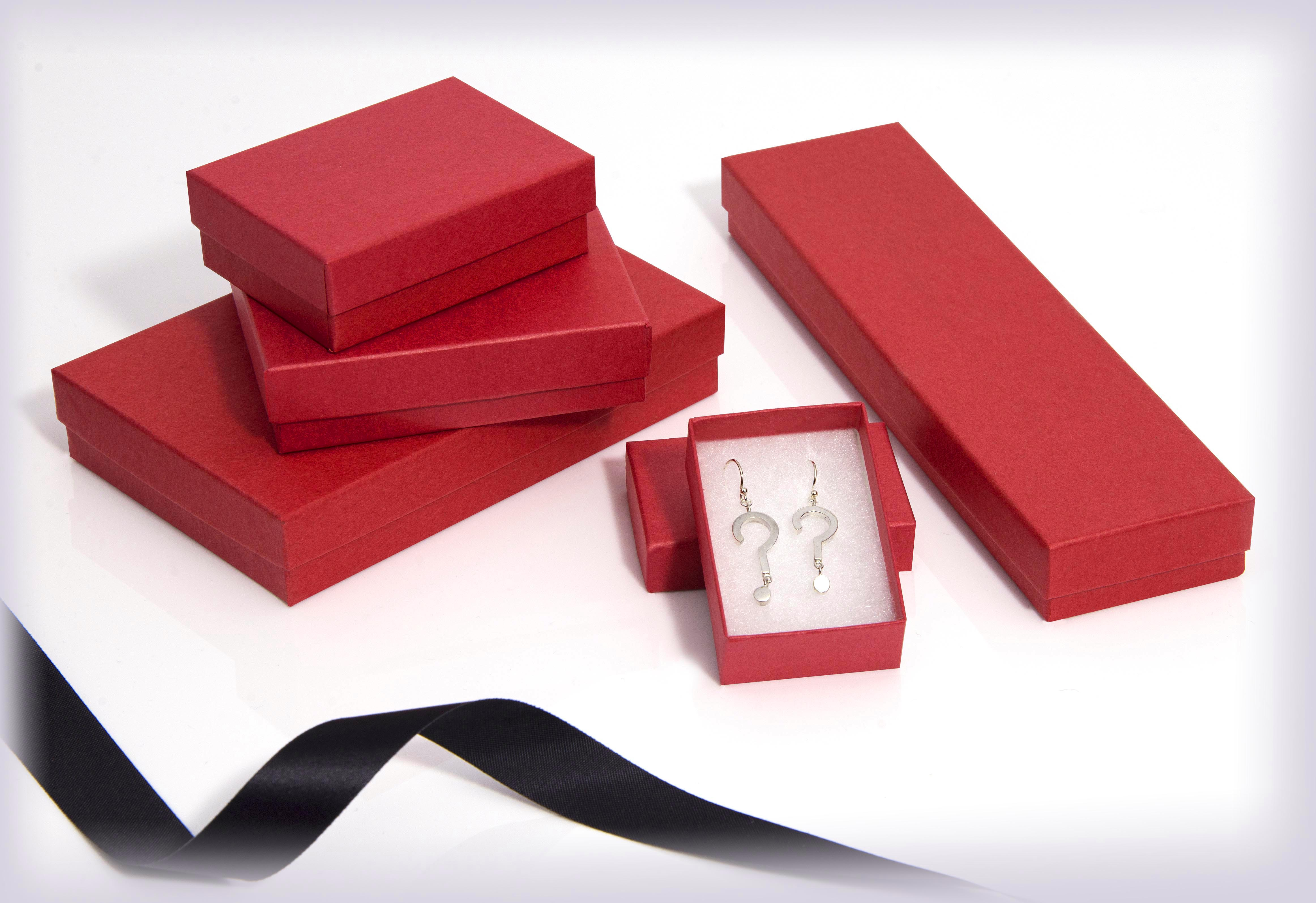 Kraft Red jewellery boxes & gift boxes, Red Jewellery Gift Boxes ...