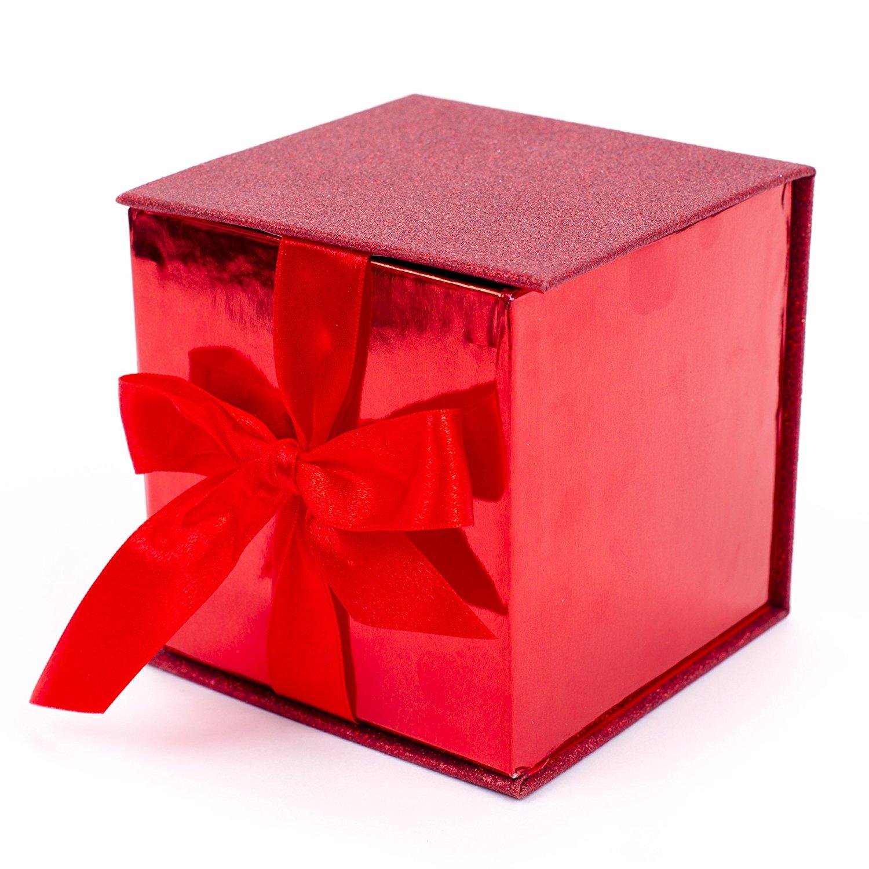 Amazon.com: Hallmark Signature Valentine's Day Small Red Gift Box ...