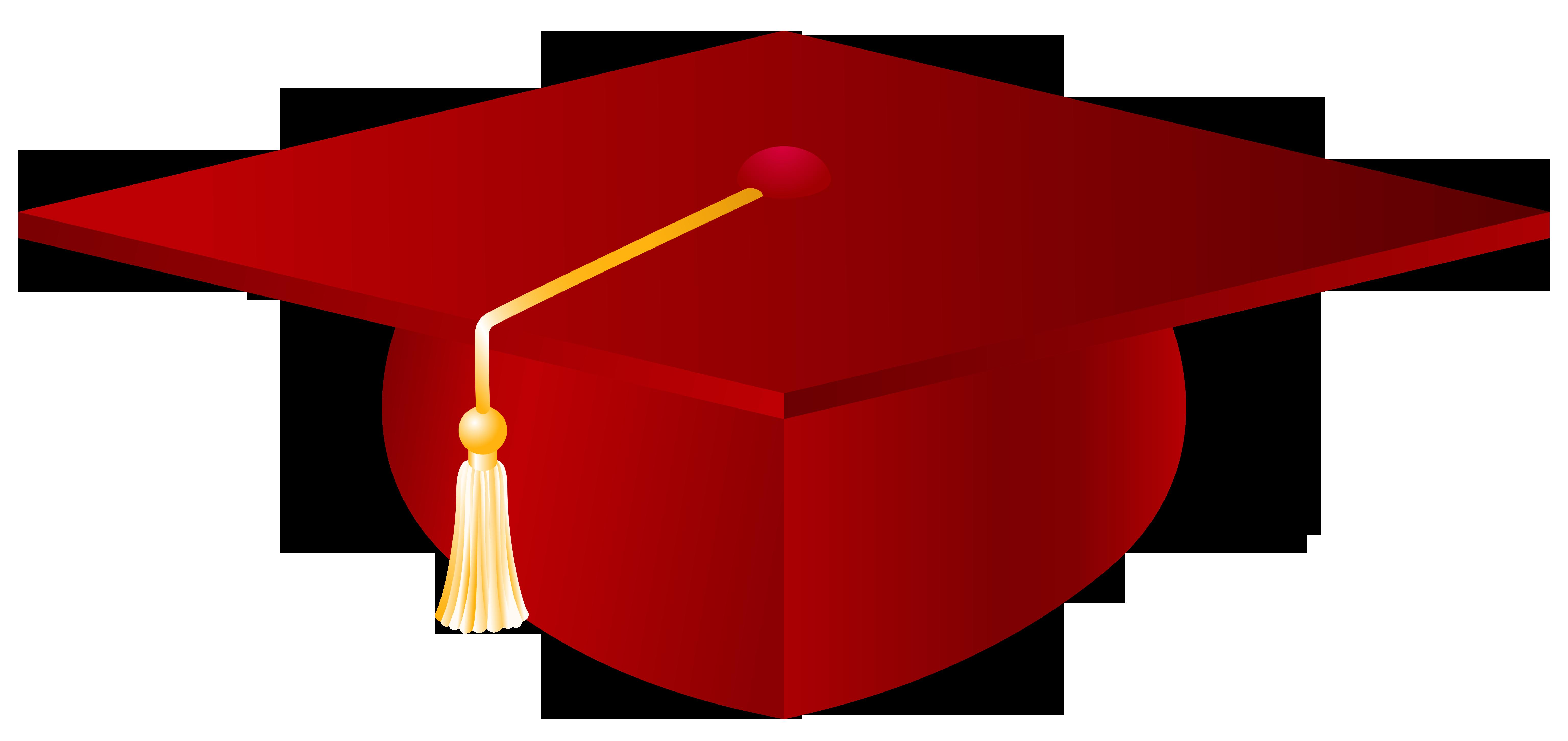 Red graduation cap photo