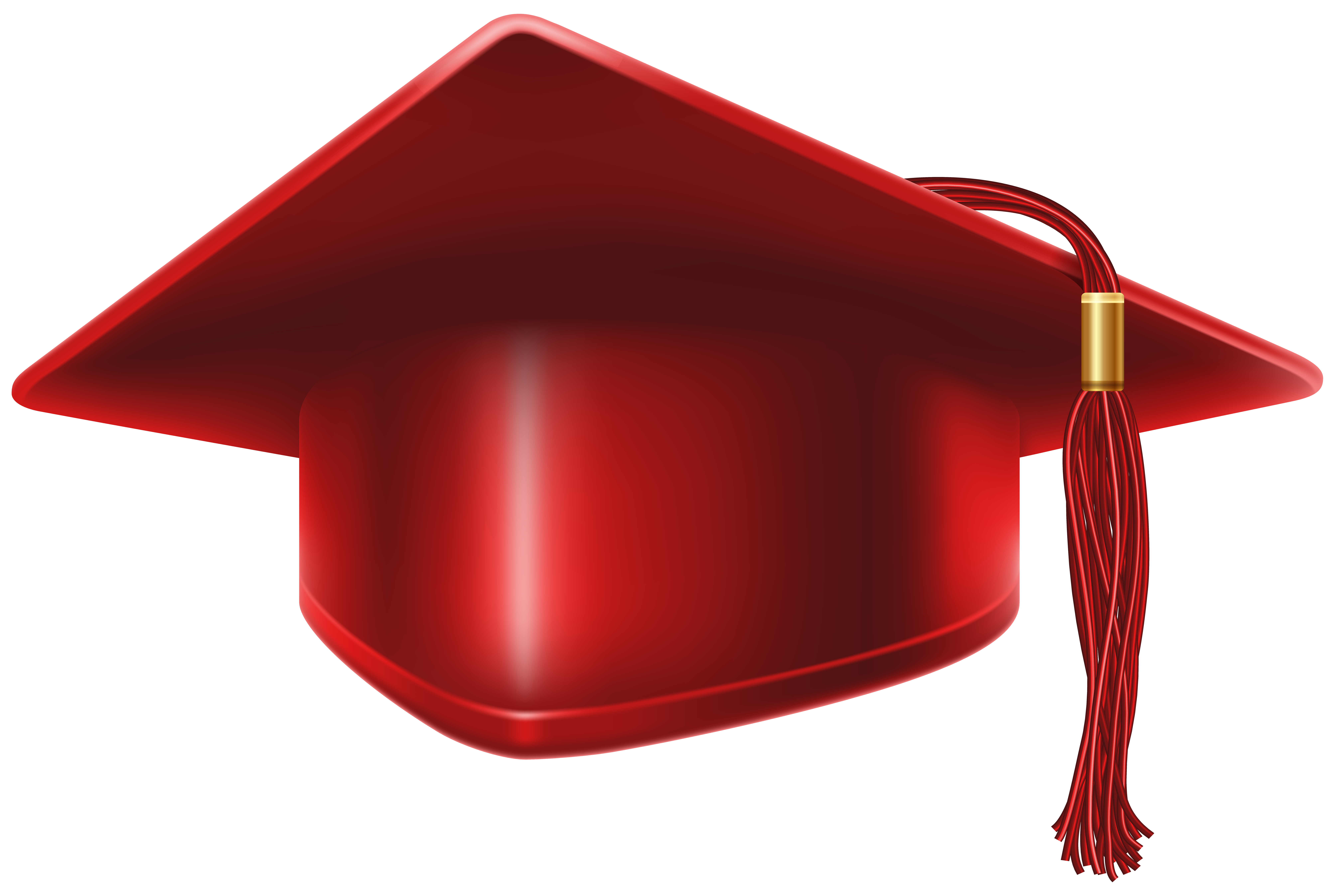Red Graduation Cap PNG Clip Art Image | Gallery Yopriceville - High ...