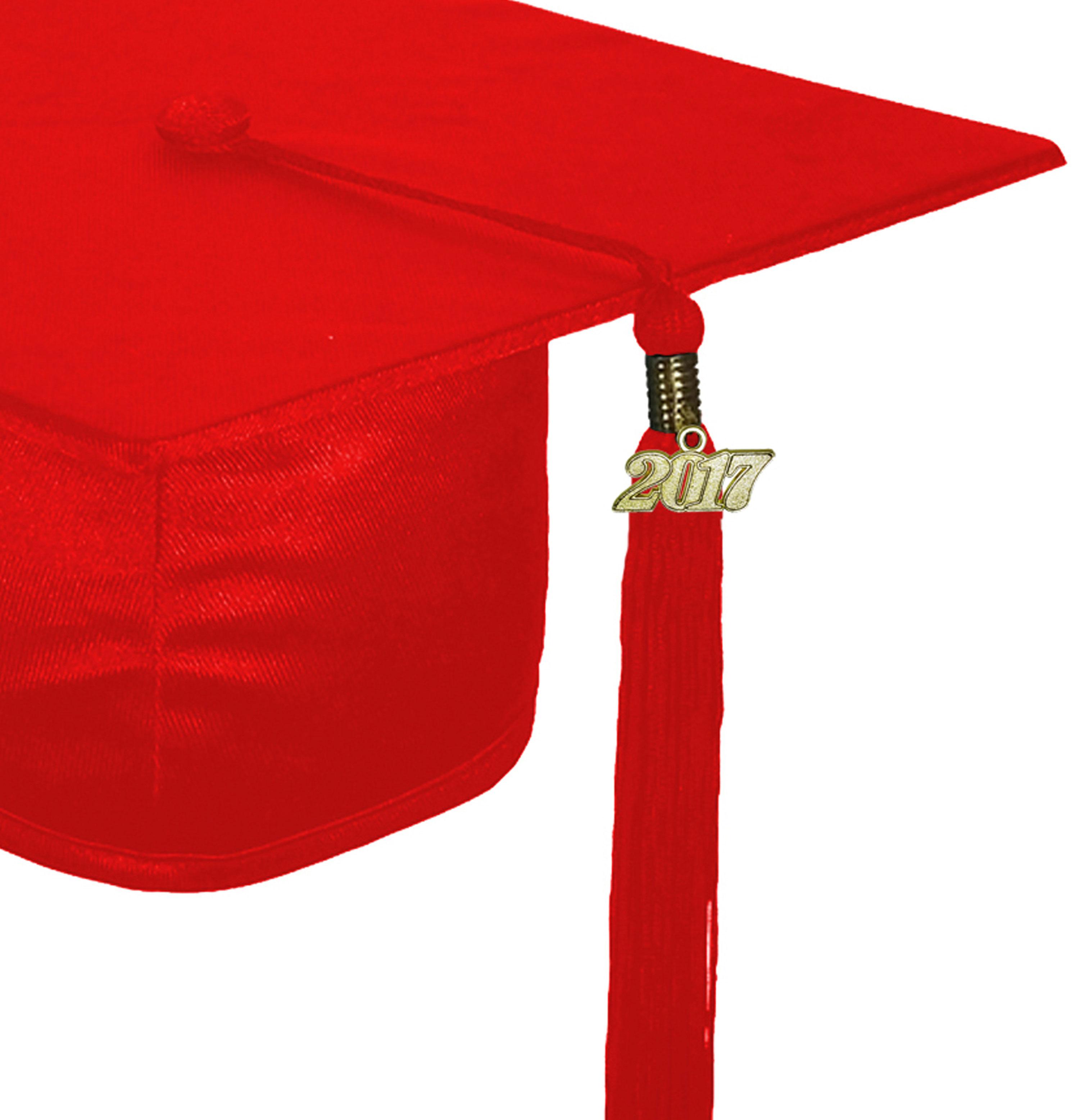 SHINY RED GRADUATION CAP HIGH SCHOOL-rs4251465607785