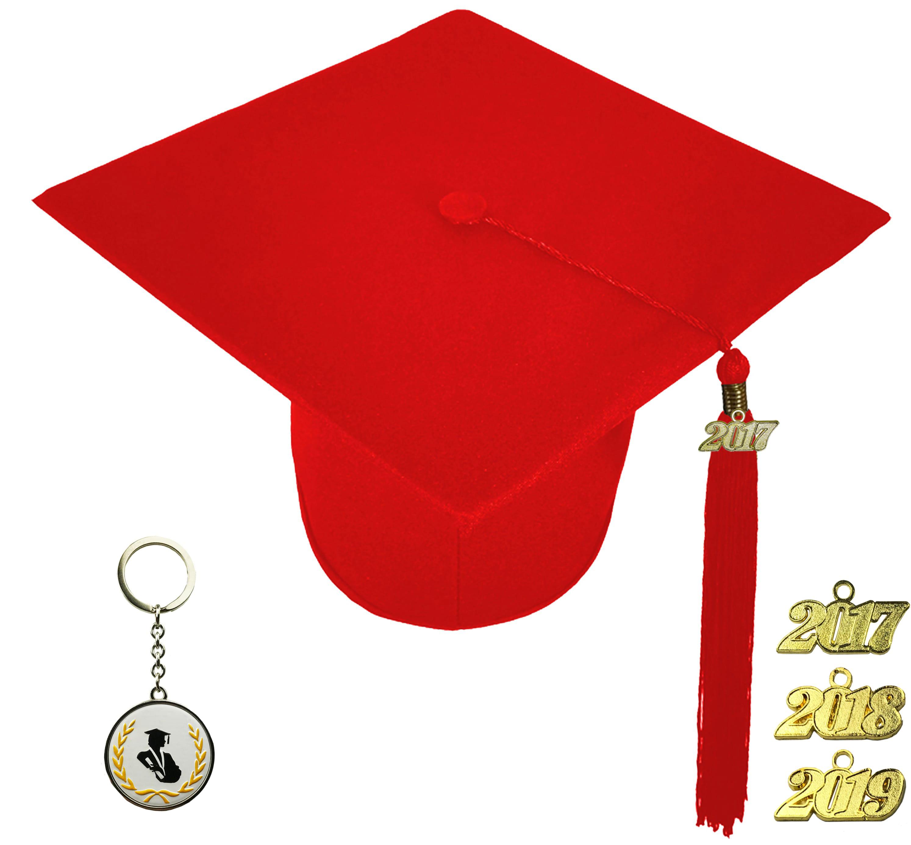 MATTE RED GRADUATION CAP ELEMENTARY SCHOOL-rs4251465608690