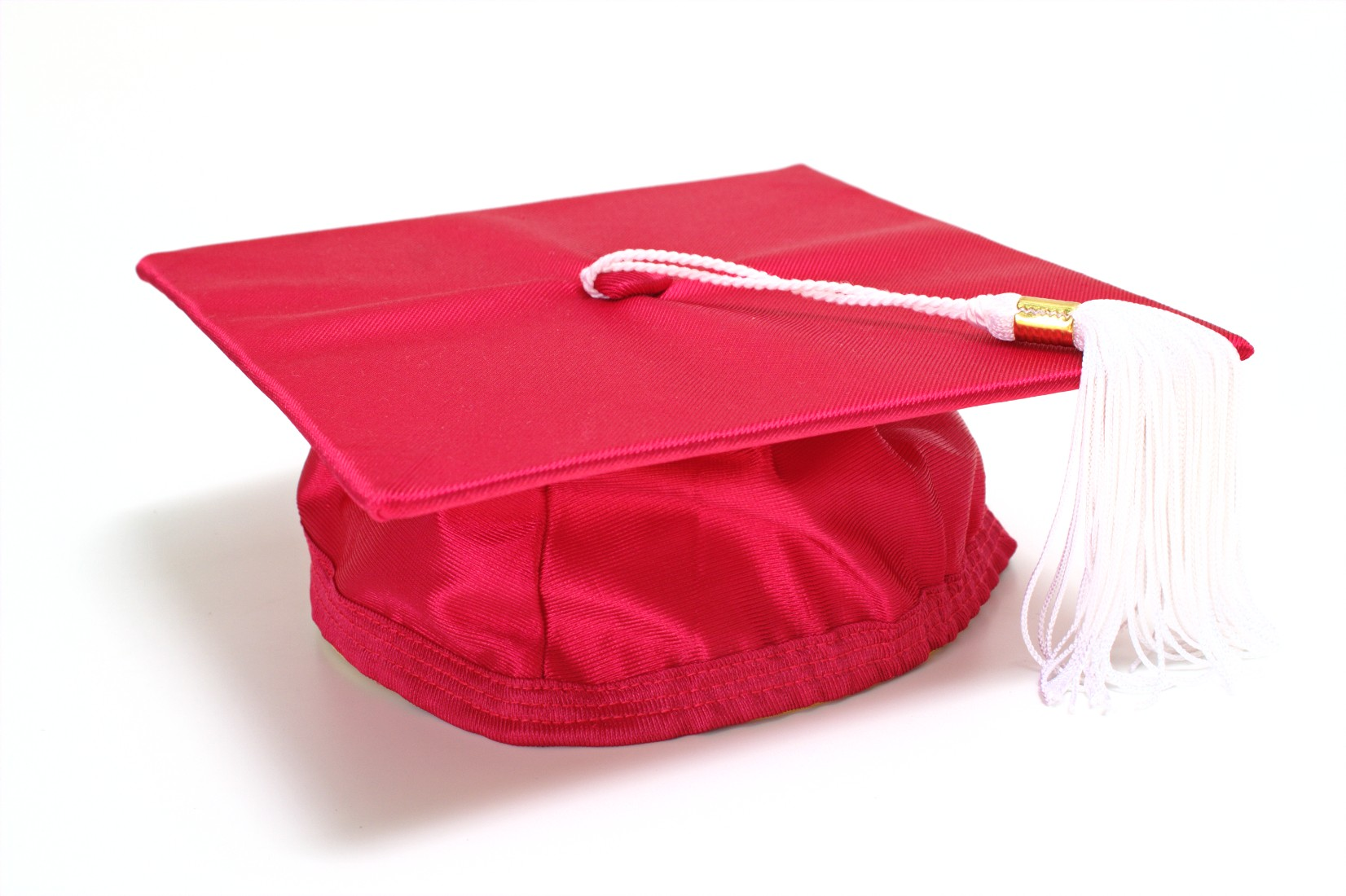 Red graduation cap, 3d, Red, Intelligence, Isolated, HQ Photo